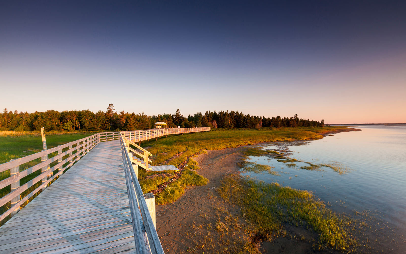 Kellys Beach Boardwalk, Kouchibouguac National Park, New Brunswick, Canada