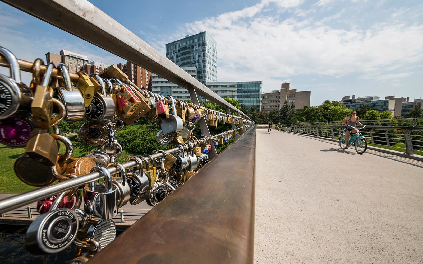 Love Locks, Corktown Footbridge, Rideau Canal, Ottawa