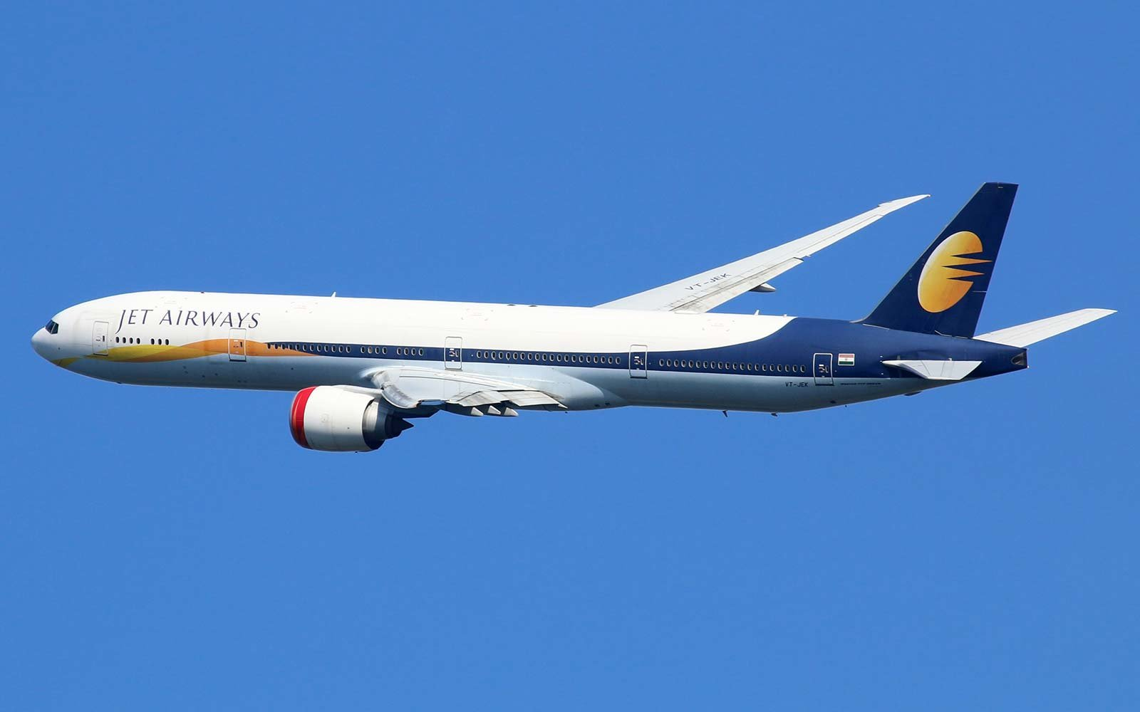 Jet Airways Boeing 777-300ER India airplane