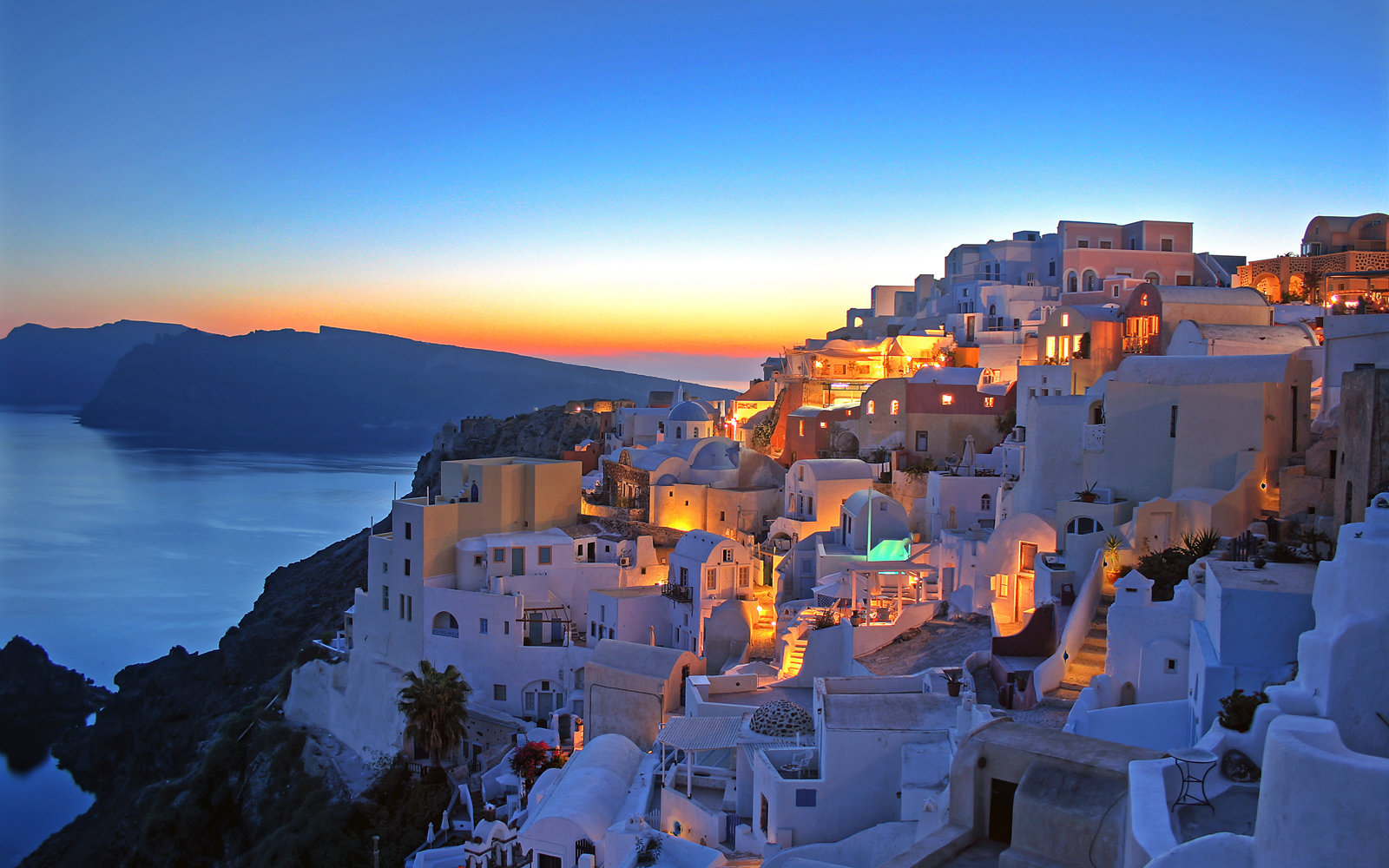 Sunset in Santorini.