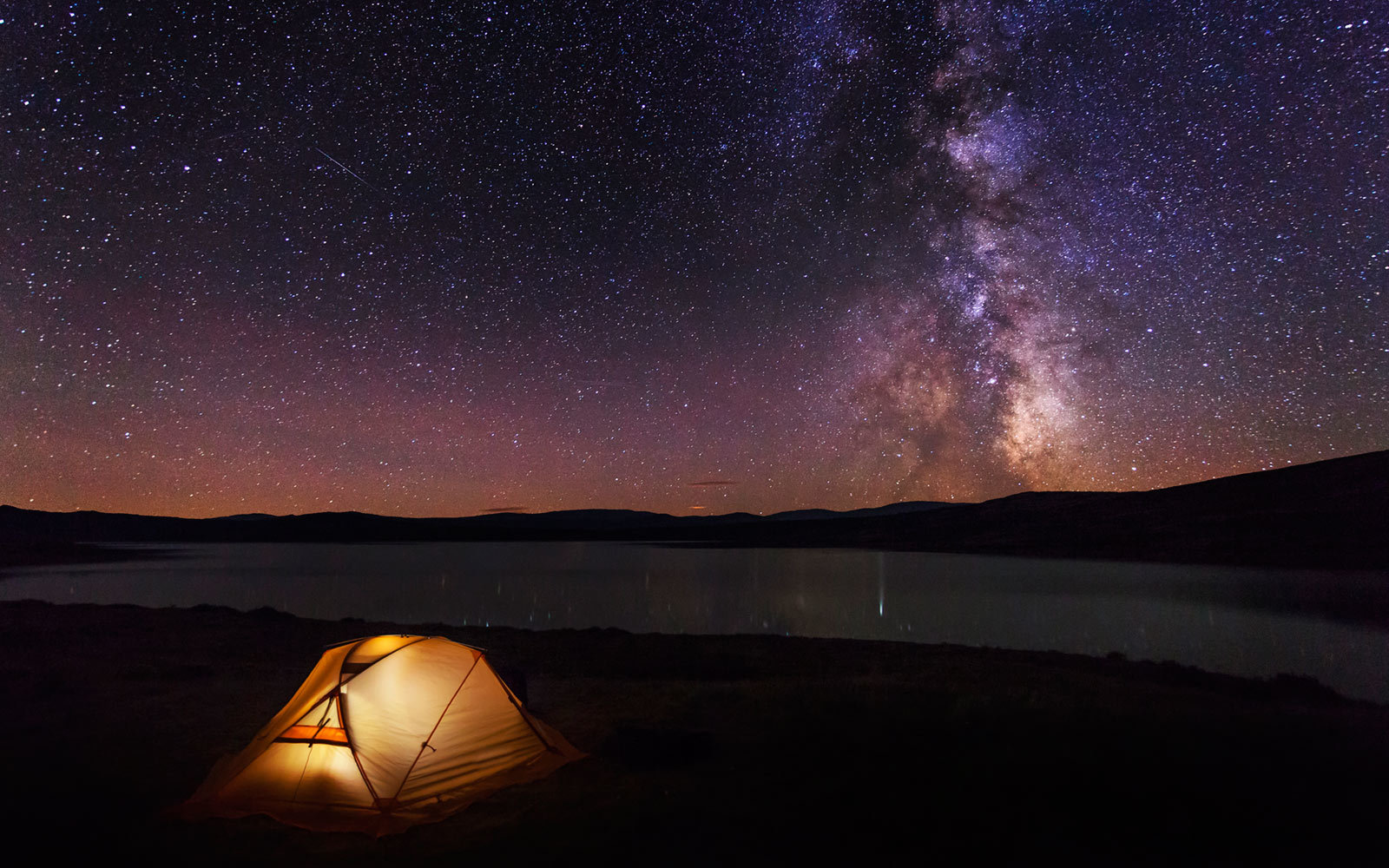Tent, Camping, Mountains, Night