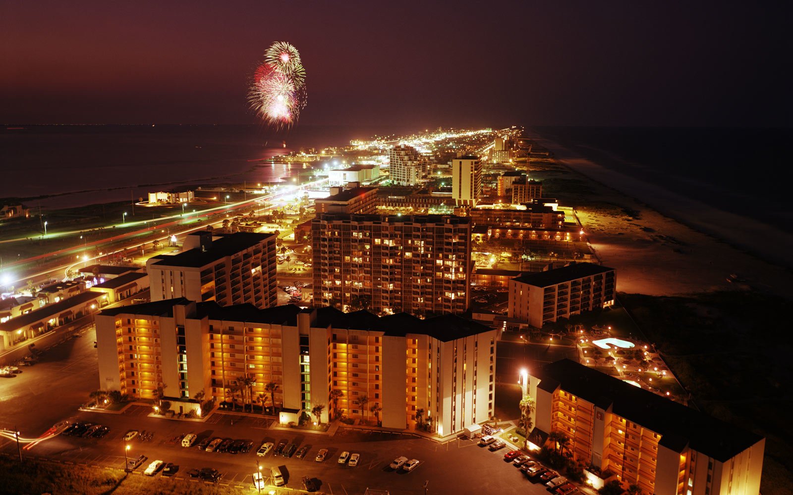 Fireworks, South Padre Island, Texas
