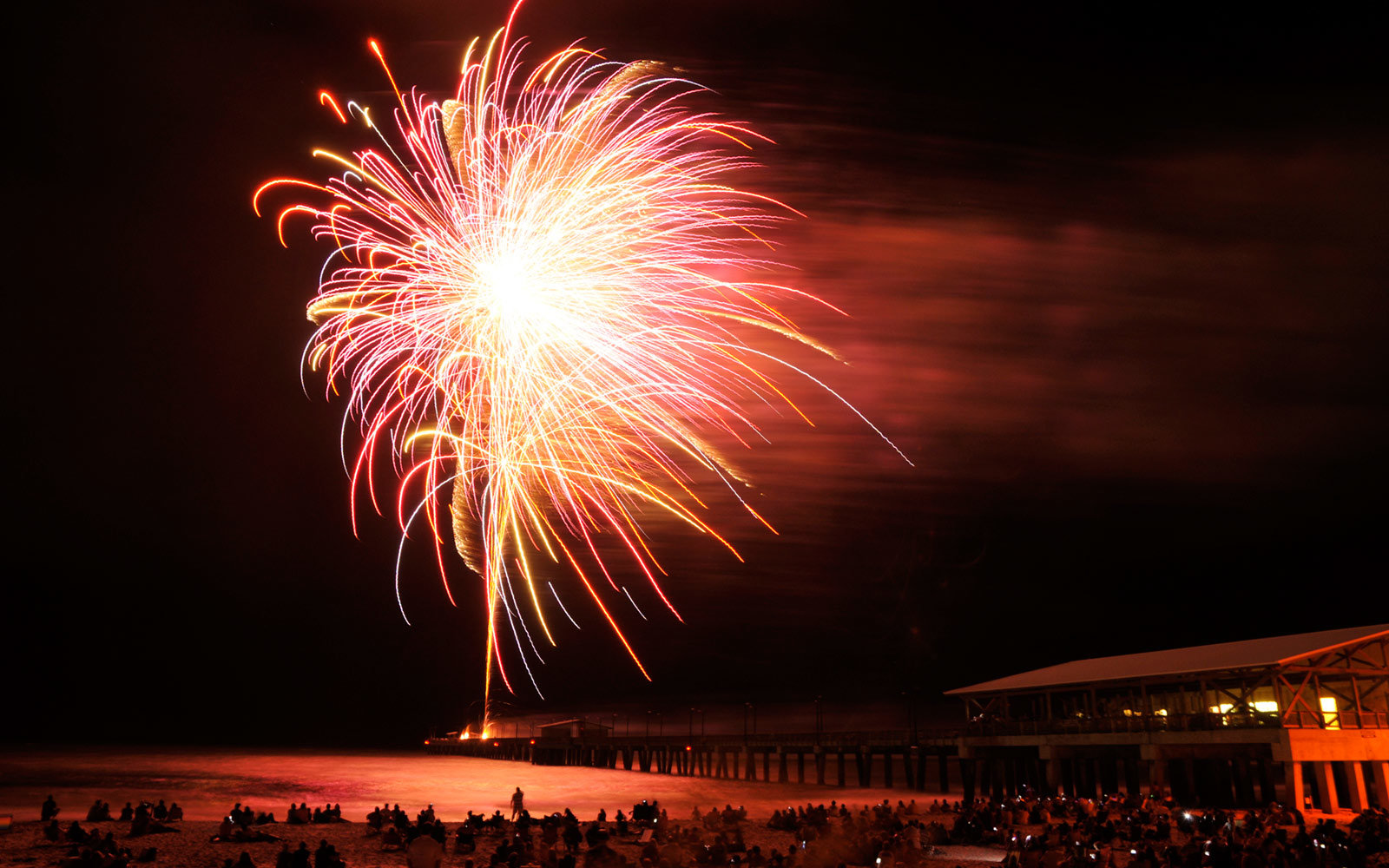 Fireworks, West Beach, Gulf Shores, Alabama