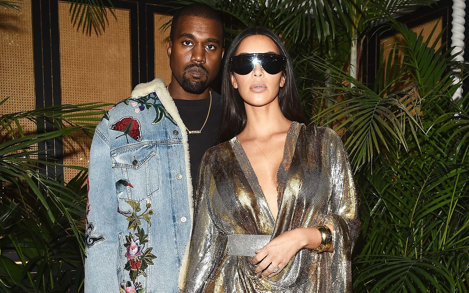 Kanye West and Kim Kardashian Balmain party Paris Fashion Week