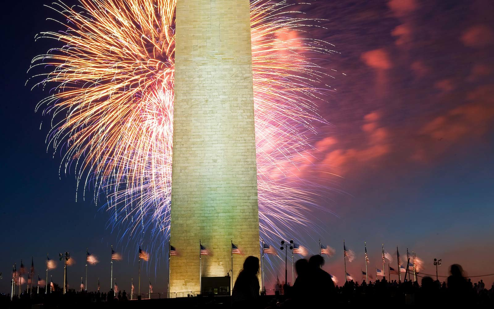 Fourth of July Independence Day Celebrations National Mall Washington monument Washington, DC fireworks