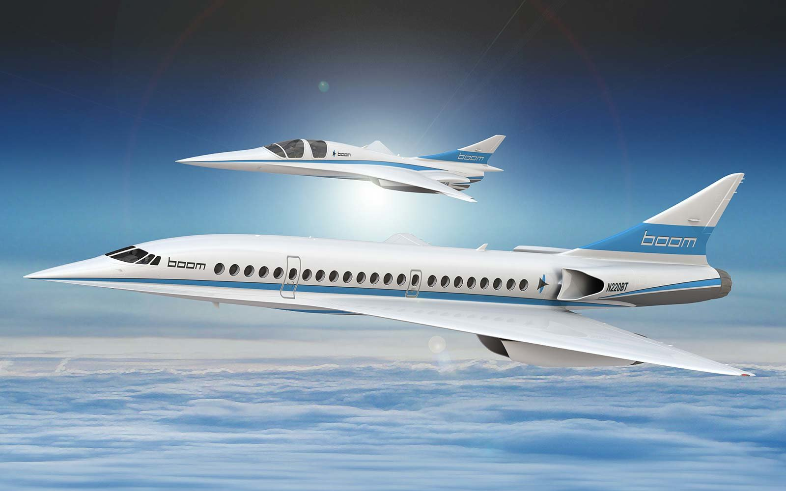 Boom Supersonic Jet Airplane