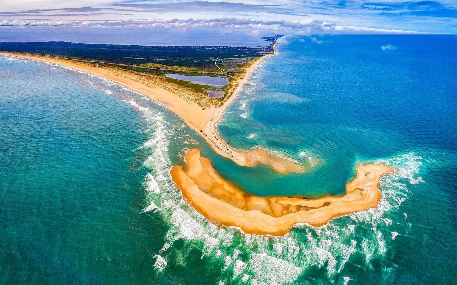 Cape Point Outer Banks North Carolina New Island aerial