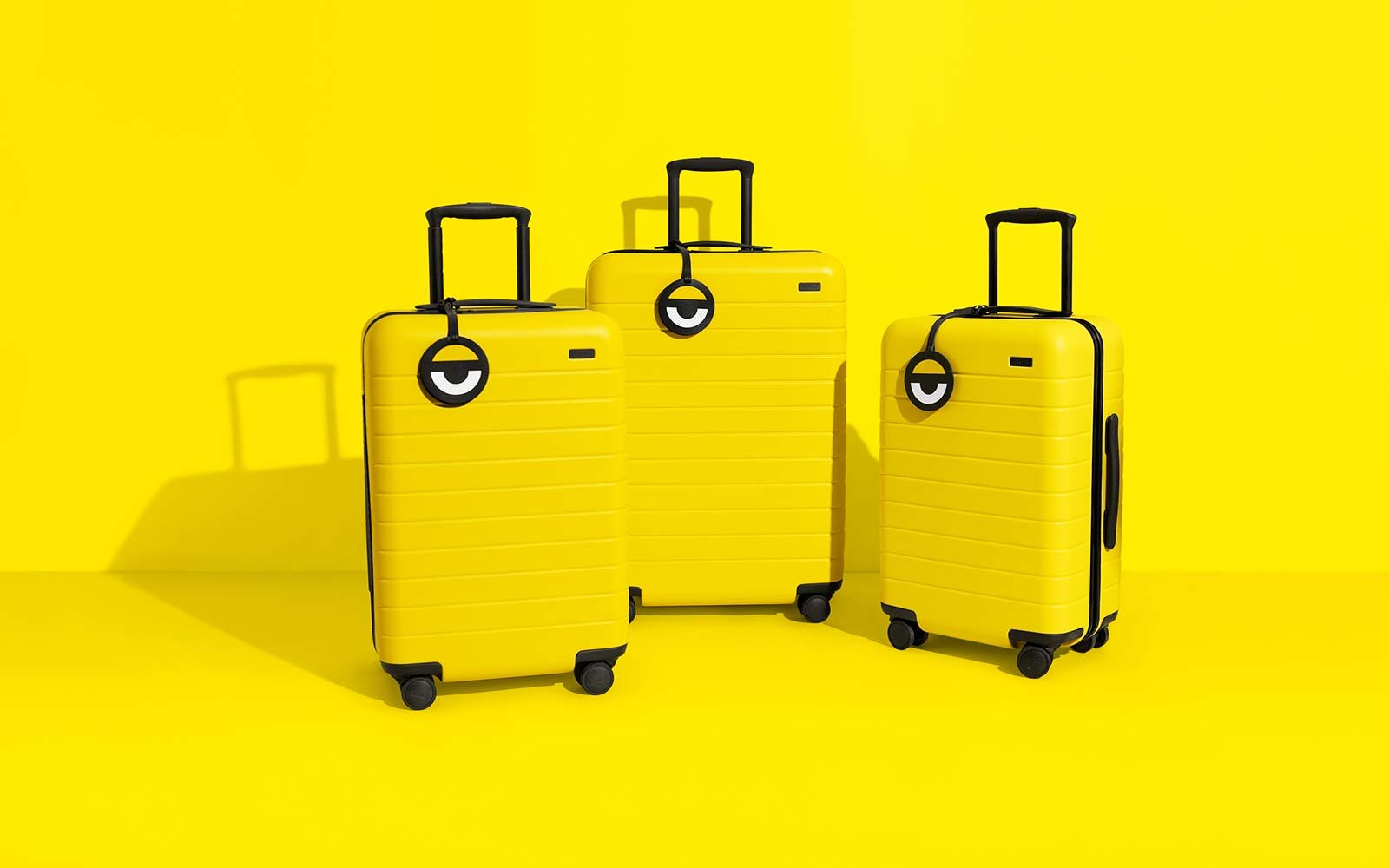 Away travel luggage Minions Despicable Me 3 luggage collaboration yellow style