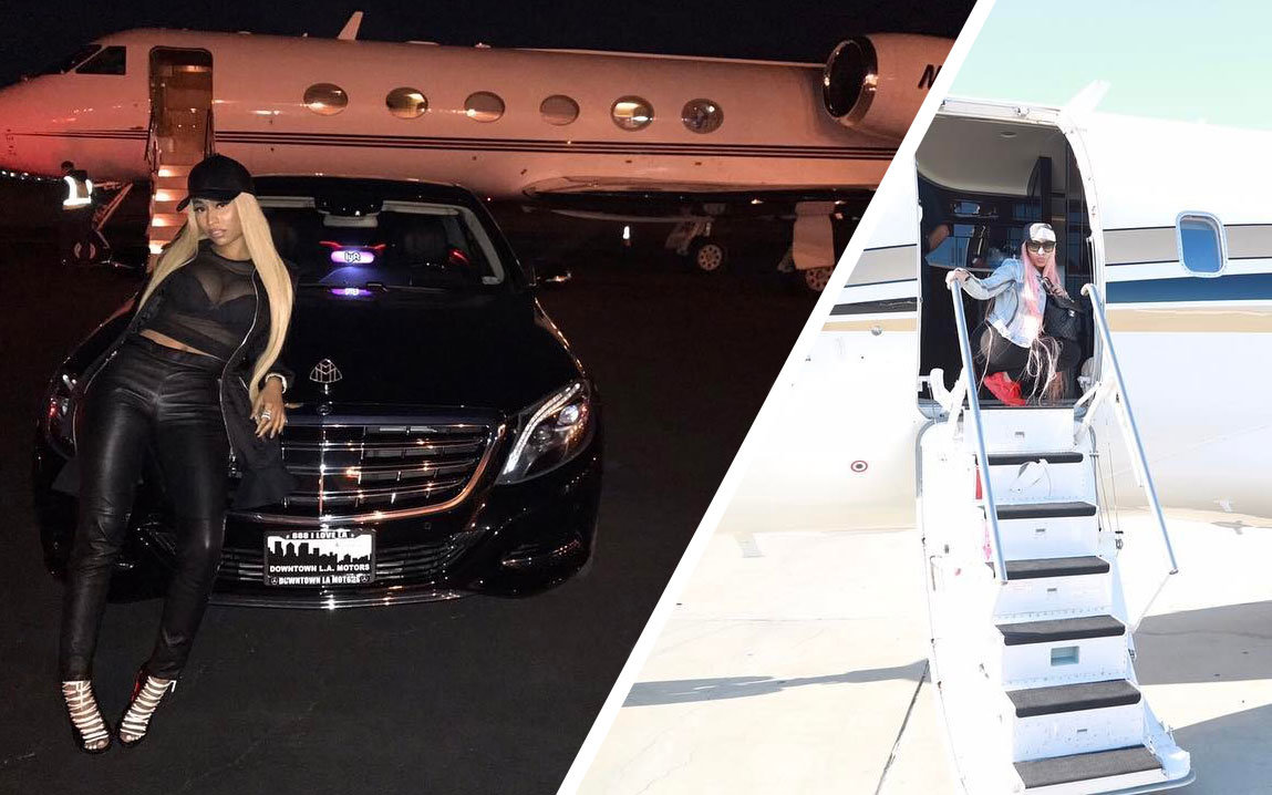 This Is How Nicki Minaj Gets On Her Private Plane Travel