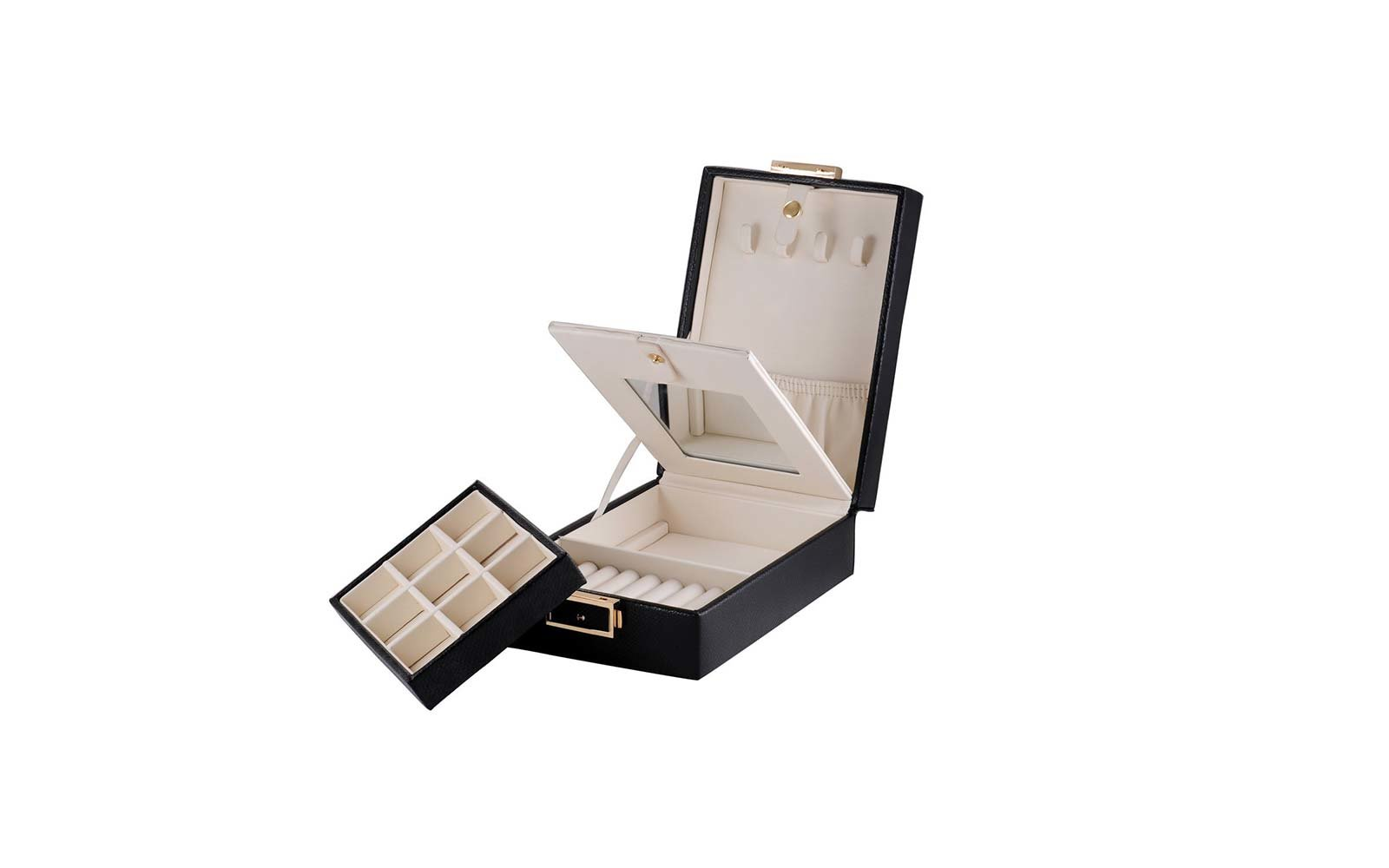 Beautiful Jewelry Travel Case With Multiple Pockets For