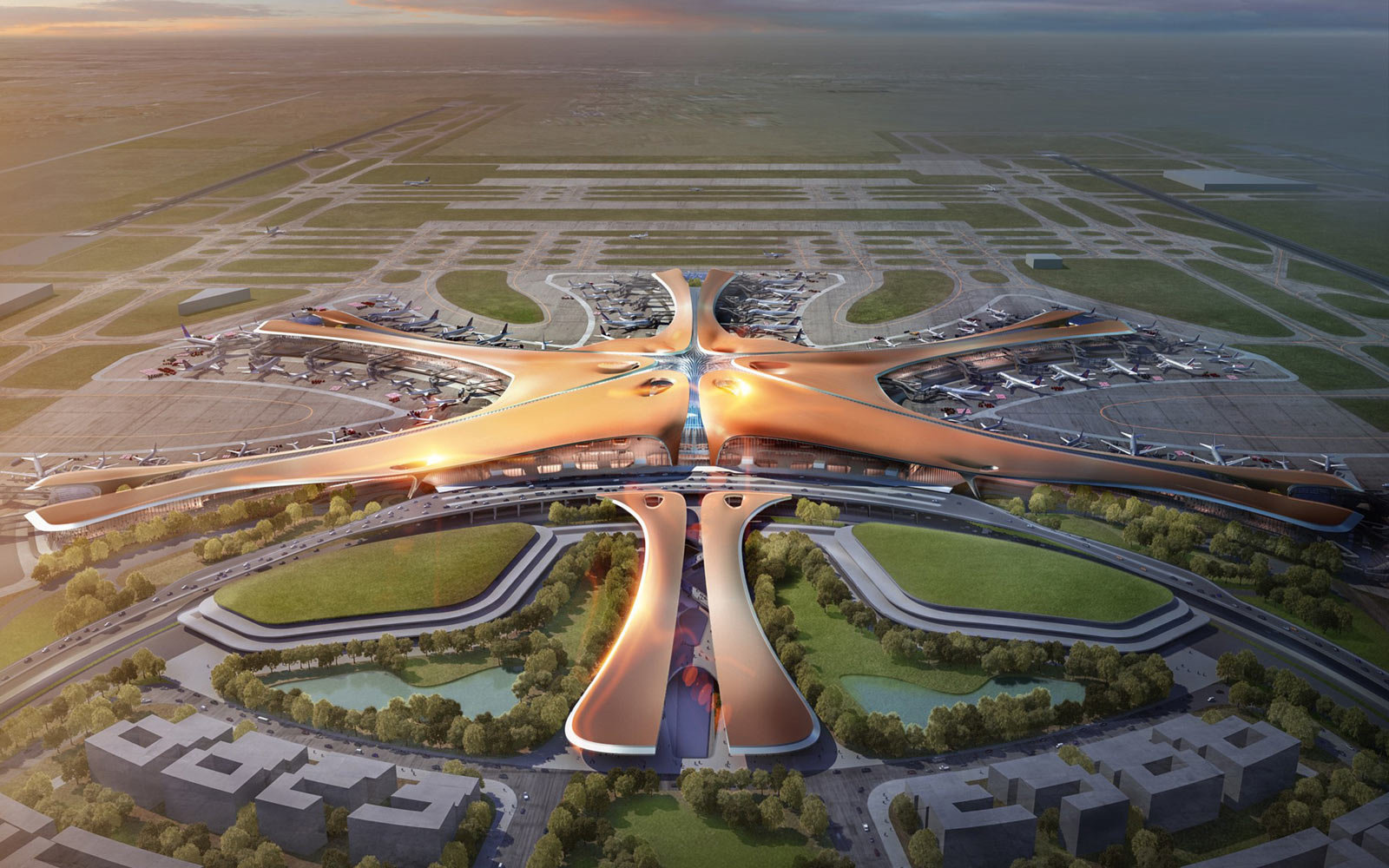 Beijing Airport Terminal Building, Zaha Hadid Architects