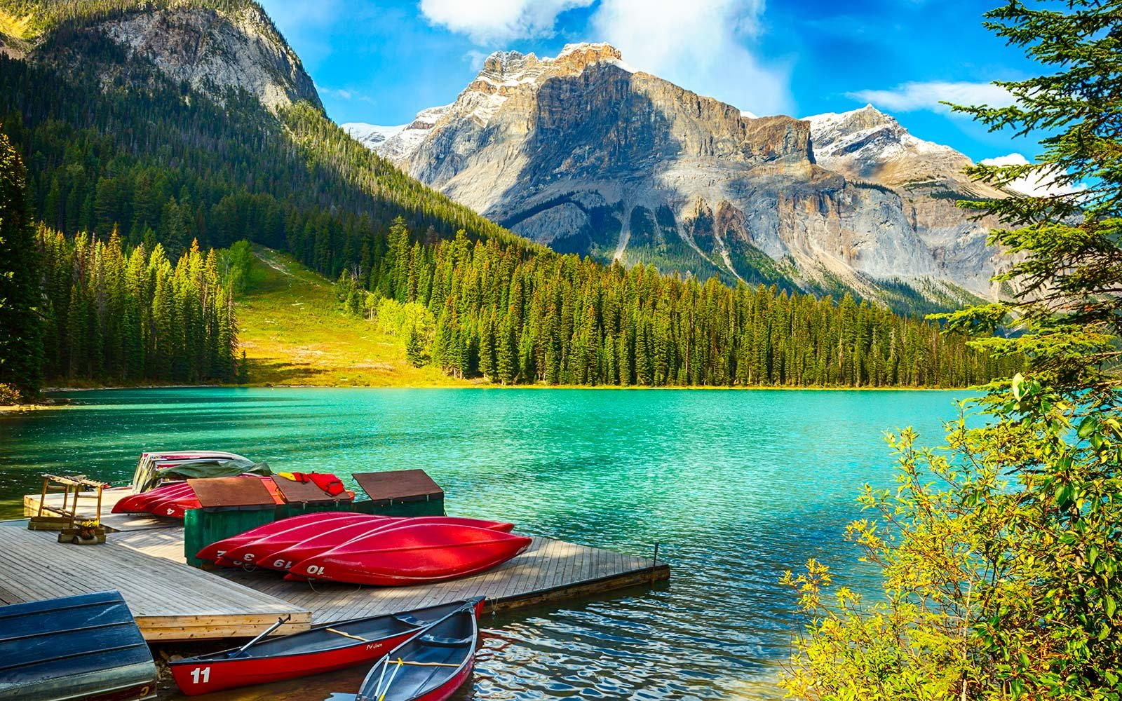 Emerald Lake, Yoho National Park, British Columbia, Canada Delta Fare Summer Birthday Sale Deal