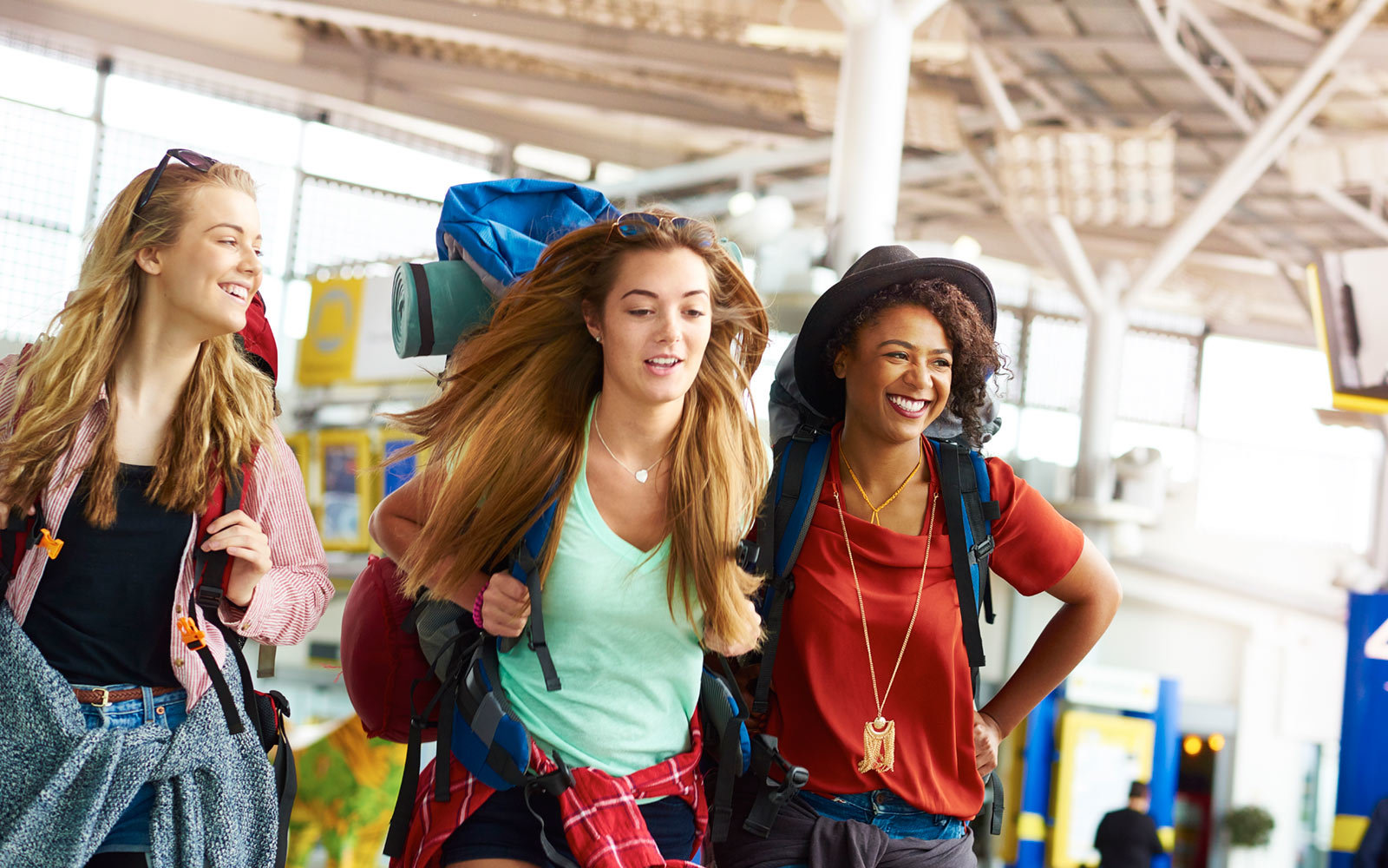 airport, college students, travel