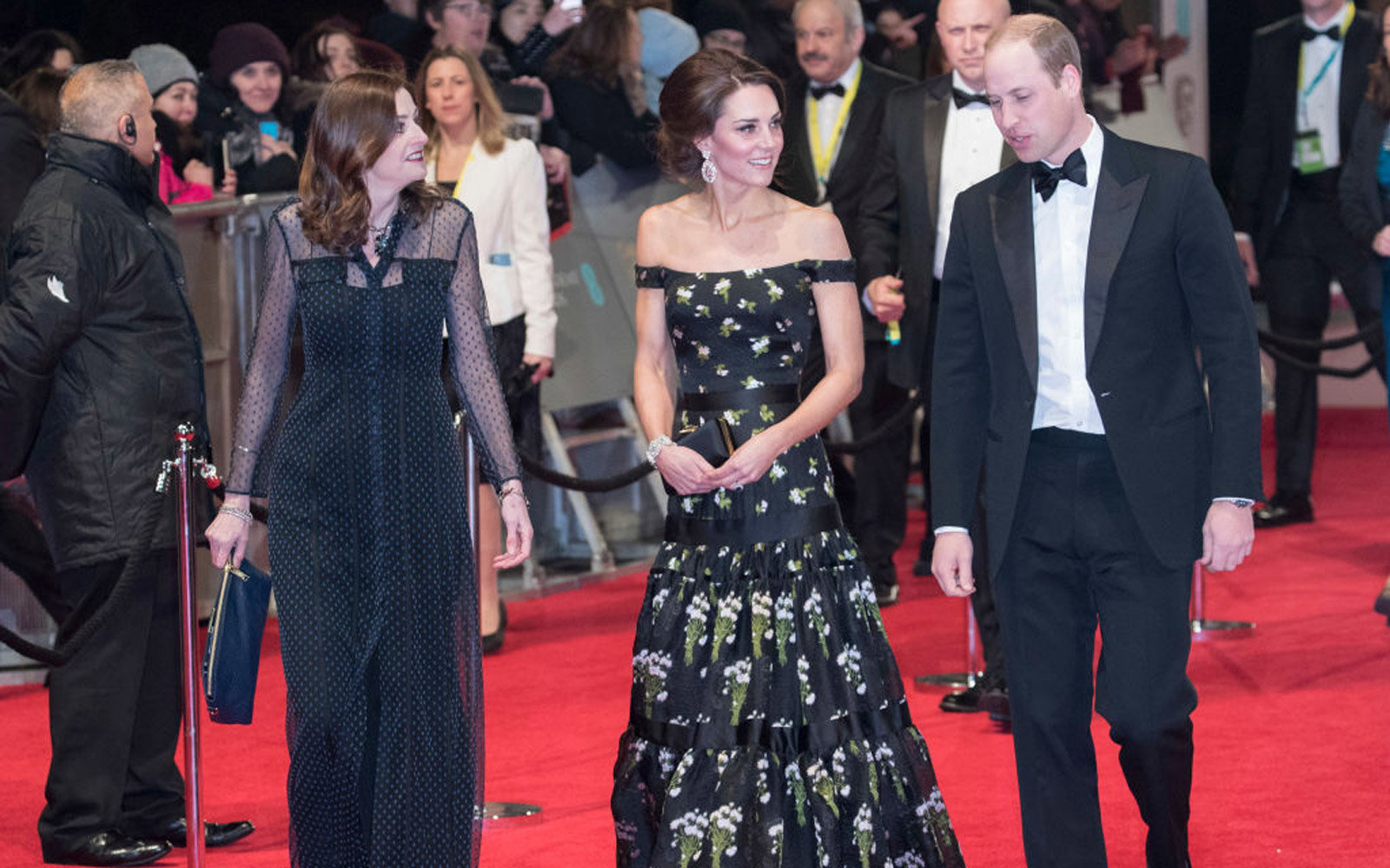 LONDON, ENGLAND - FEBRUARY 12:  (L-R) Catherine, Duchess of Cambridge and Prince William, Duke of Cambridge attends the 70th EE British Academy Film Awards (BAFTA) at Royal Albert Hall on February 12, 2017 in London, England.  (Photo by John Phillips/Get