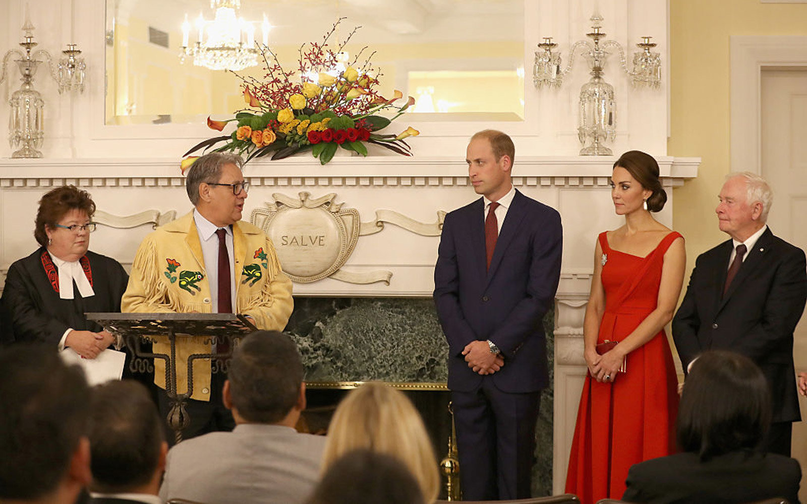 VICTORIA, BC - SEPTEMBER 26:  Catherine, Duchess of Cambridge and Prince William, Duke of Cambridge attend a reception at Government House on Day 3 of a Royal Tour of Canada on September 27, 2016 in Victoria, Canada. Prince William, Duke of Cambridge, Cat