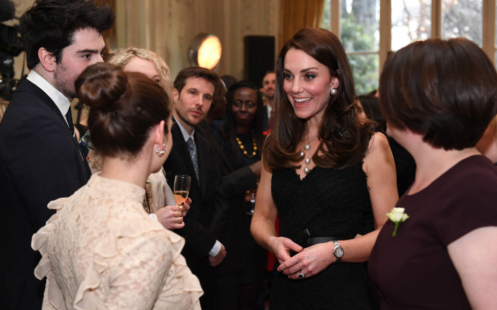 PARIS, PARIS - MARCH 17:  (NO UK SALES FOR 28 DAYS) Catherine,Duchess of Cambridge attends a reception at the British Embassy on March 17, 2017 in Paris, France. The Duke and Duchess are on a two day tour of France.  (Photo by Pool/Samir Hussein/WireImage
