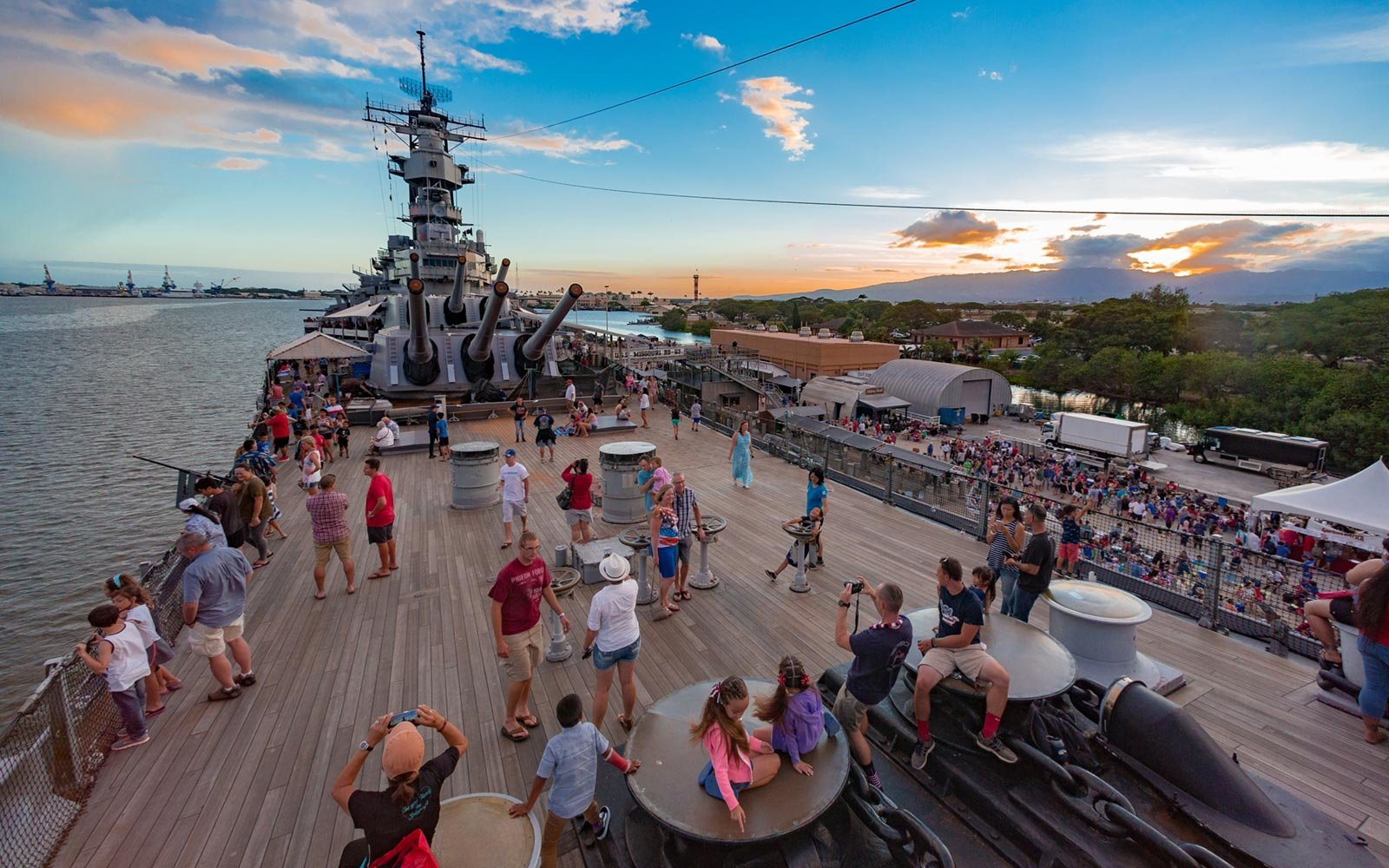 USS Missouri, Picnic on the Pier, Oahu, Hawaii
