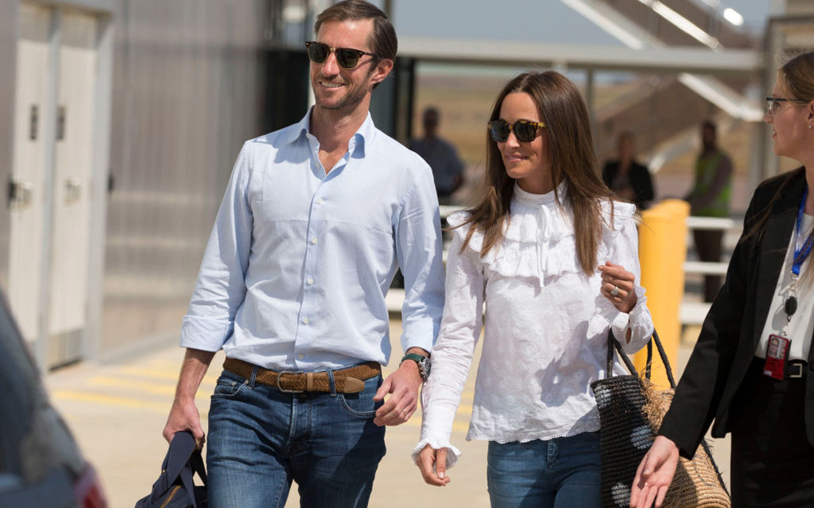 JUNE 1, 2017: DARWIN, NT - (EUROPE AND AUSTRALASIA OUT)  Newly married James Matthews and Pippa Middleton arrive into Darwin International Airport in Darwin, Northern Territory. (Photo by Glenn Campbell/Newspix/Getty Images)