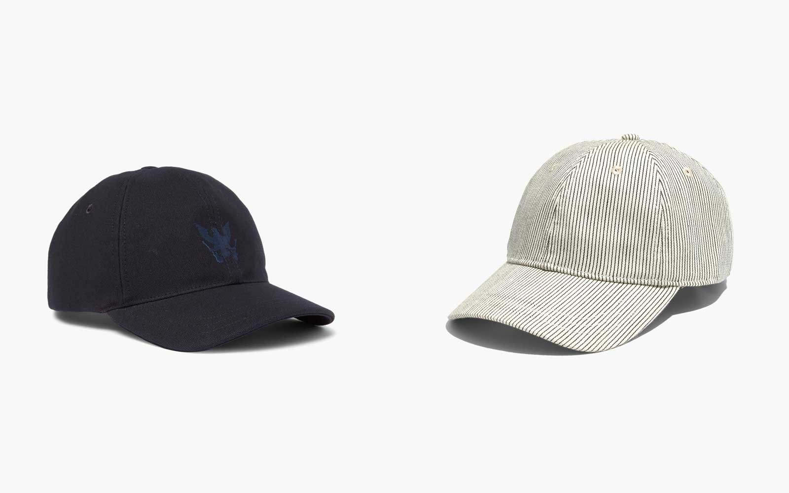 ab572218fdf A Baseball Cap. Hats from A.P.C. and Madewell. Courtesy of Mr. Porter ...