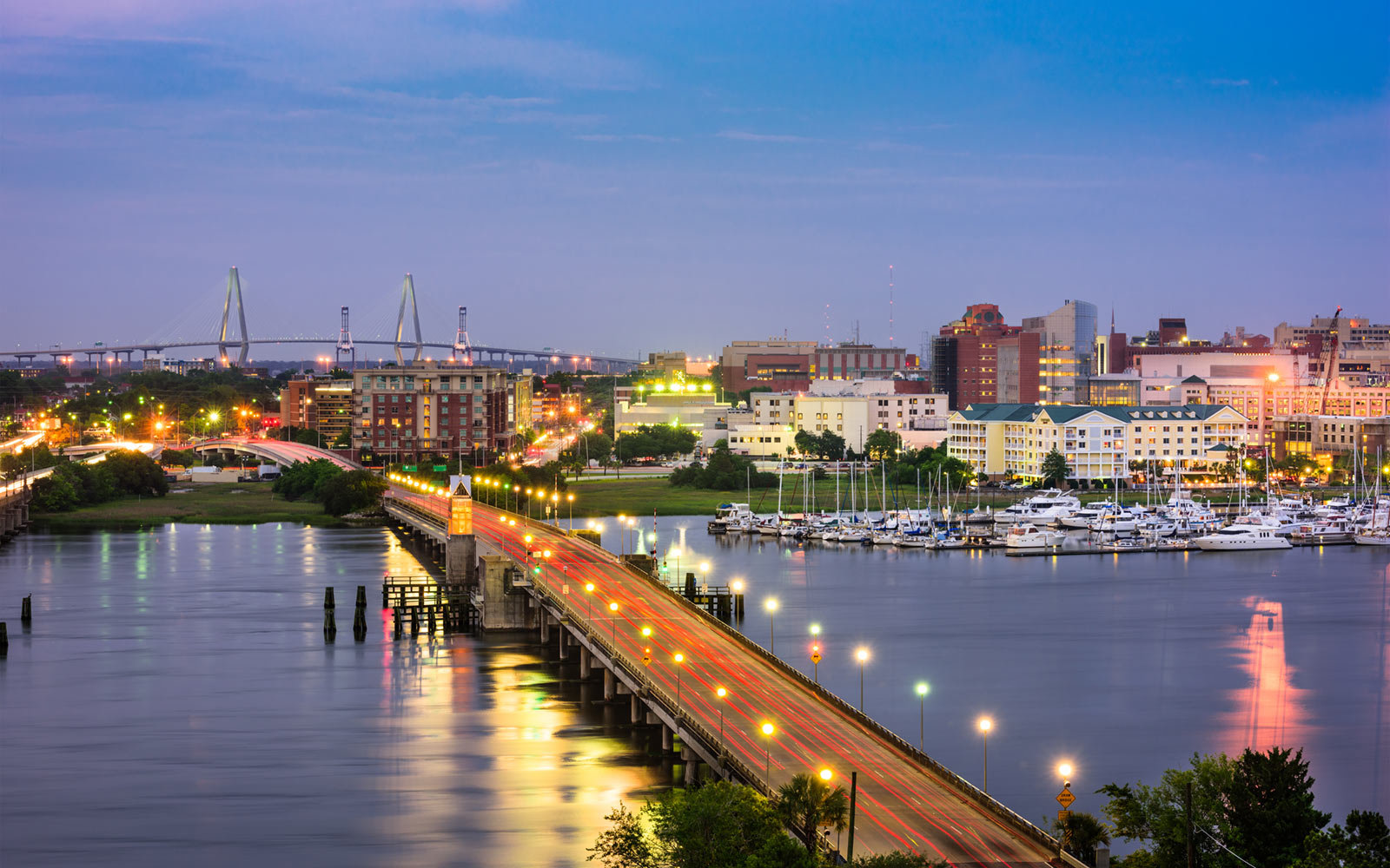 Bridge, Skyline, Charleston, South Carolina