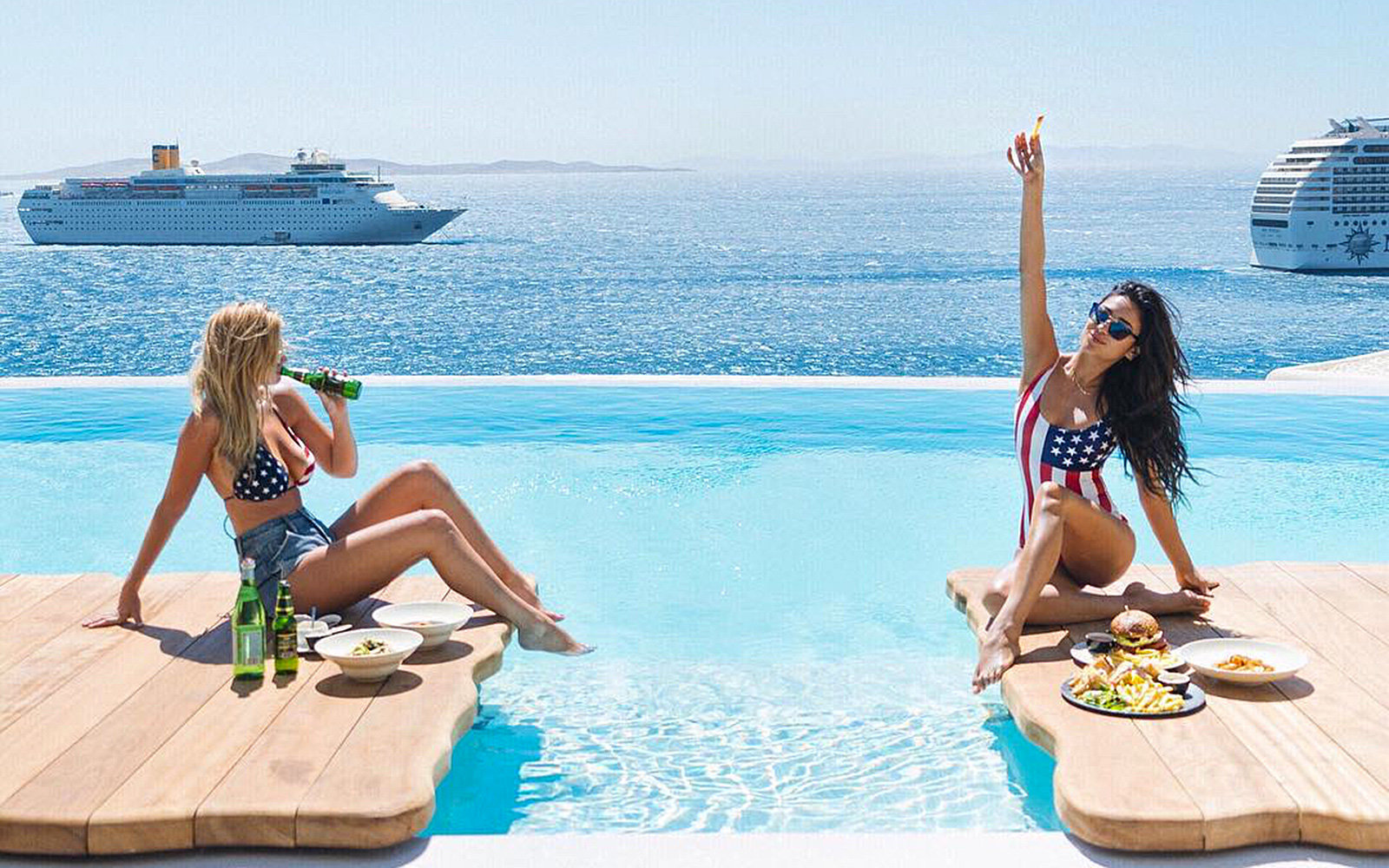 Shay Mitchell Actress Summer Travel Greece