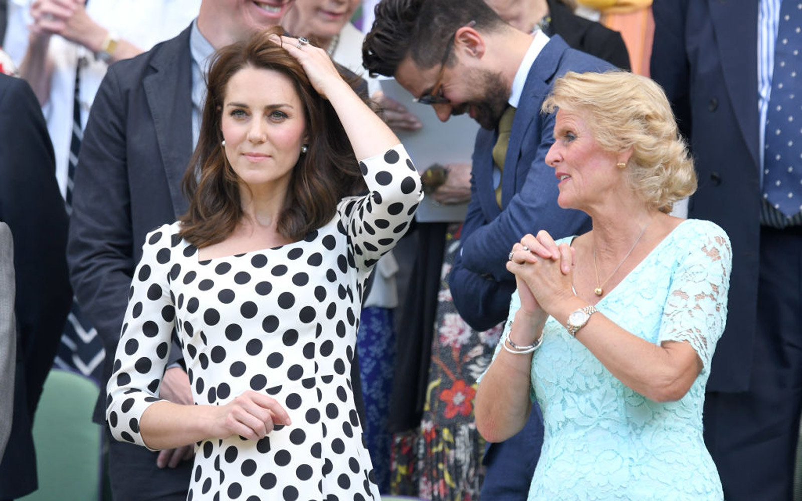 LONDON, ENGLAND - JULY 03:  Catherine, Duchess of Cambridge and Gill Brook attend day one of the Wimbledon Tennis Championships at Wimbledon on July 3, 2017 in London, United Kingdom.  (Photo by Karwai Tang/WireImage)