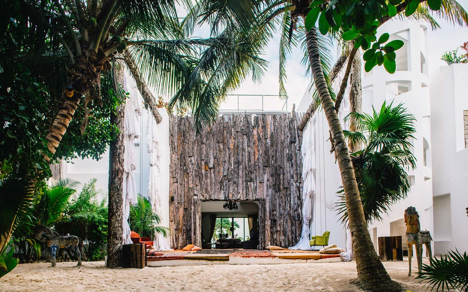 Casa Malca Tulum Mexico Hotel Pablo Escobar Estate Entrance Decor Beach