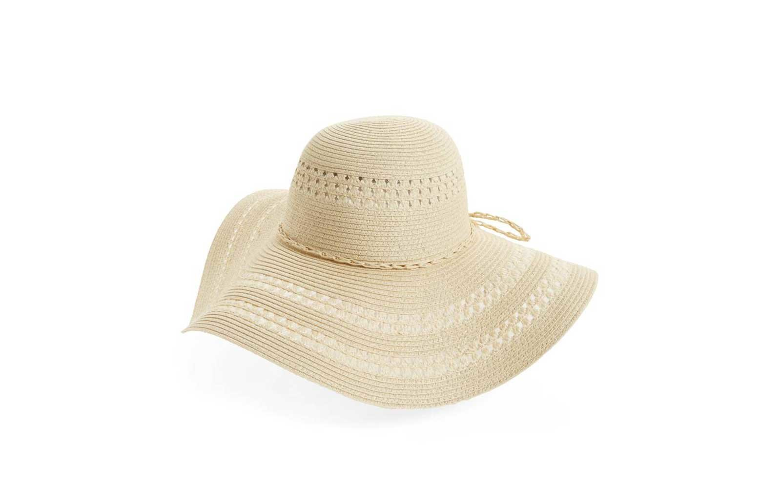 FITS Floppy Woven Straw Hat