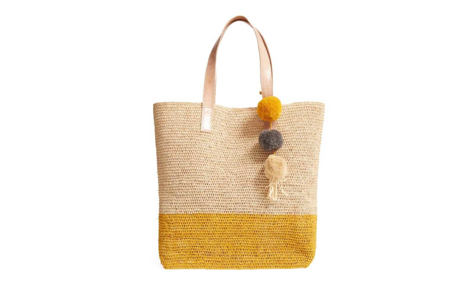 Mar Y Sol Montauk Woven Tote in Sunflower