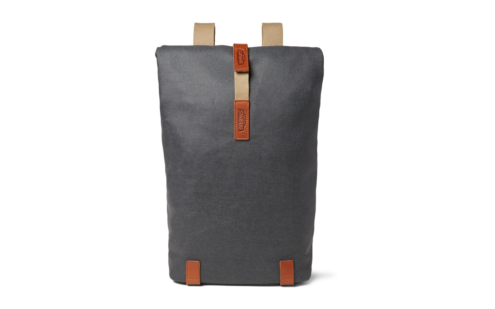 Brooks England Pickwick Small Leather-Trimmed Cotton-Canvas Backpack 203152705bb23