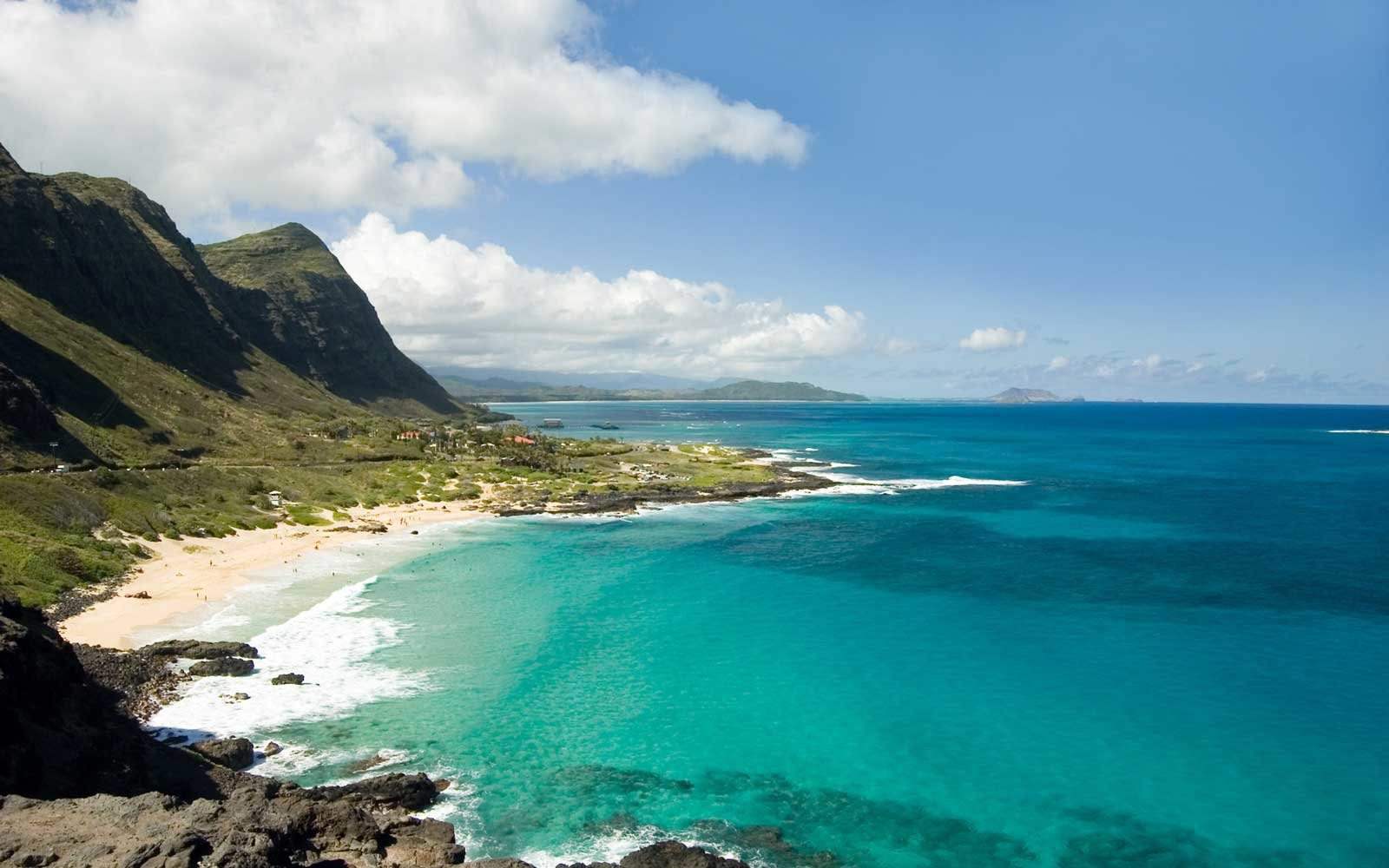 Oahu Panoramic Scenic View from above