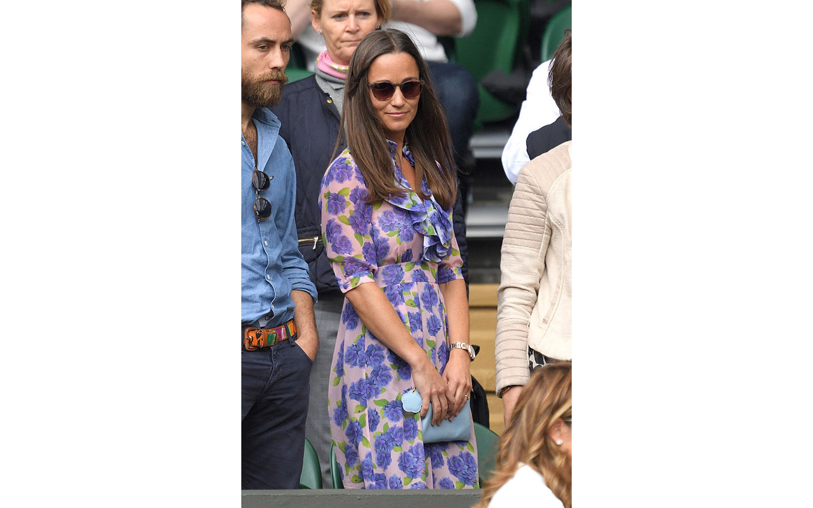 LONDON, ENGLAND - JULY 08:  Pippa Middleton attends day eleven of the Wimbledon Tennis Championships at Wimbledon on July 08, 2016 in London, England.  (Photo by Karwai Tang/WireImage)