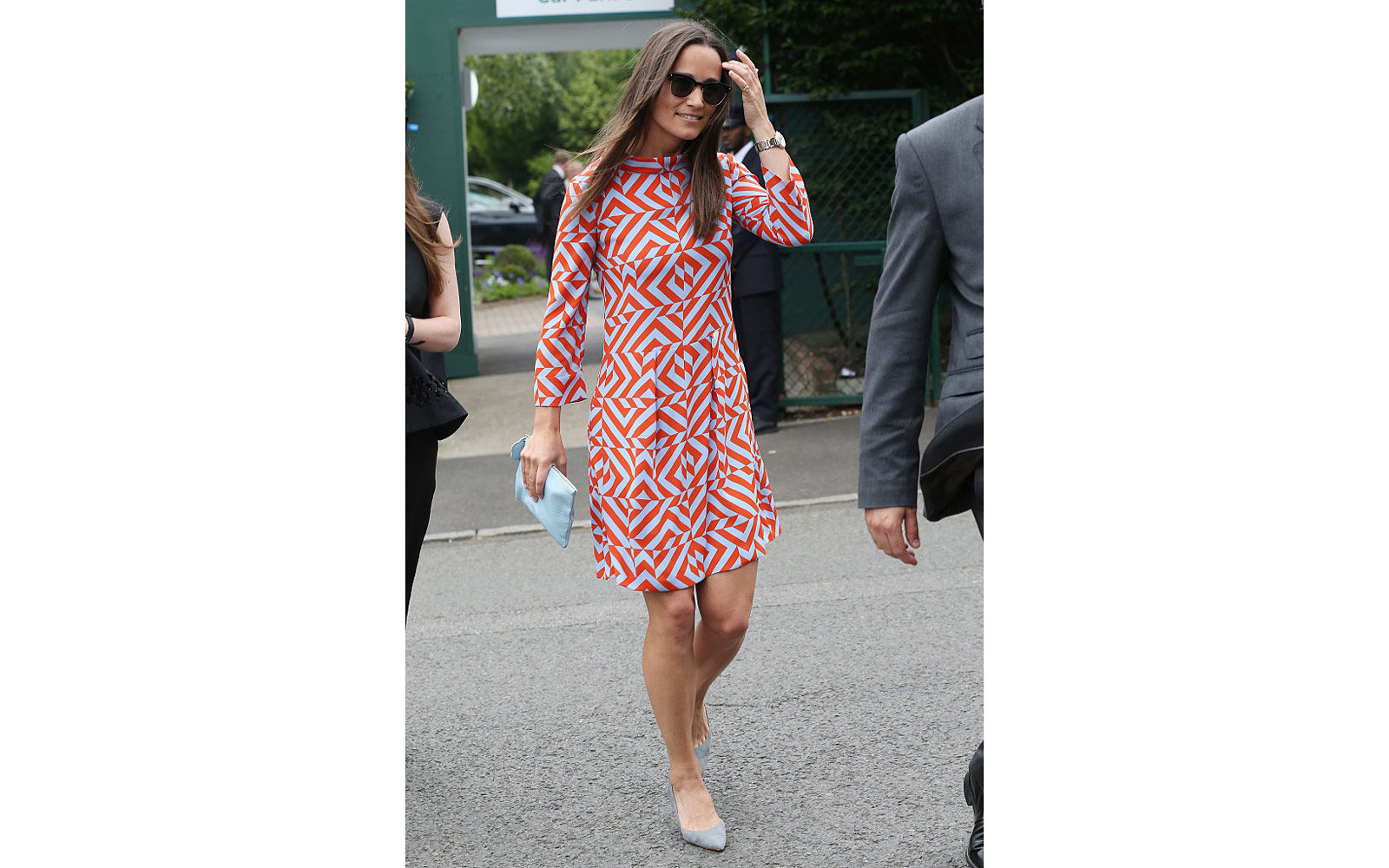 LONDON, ENGLAND - JULY 04:  Pippa Middleton seen arriving at Wimbledon on July 4, 2016 in London, England.  (Photo by Neil Mockford/GC Images)