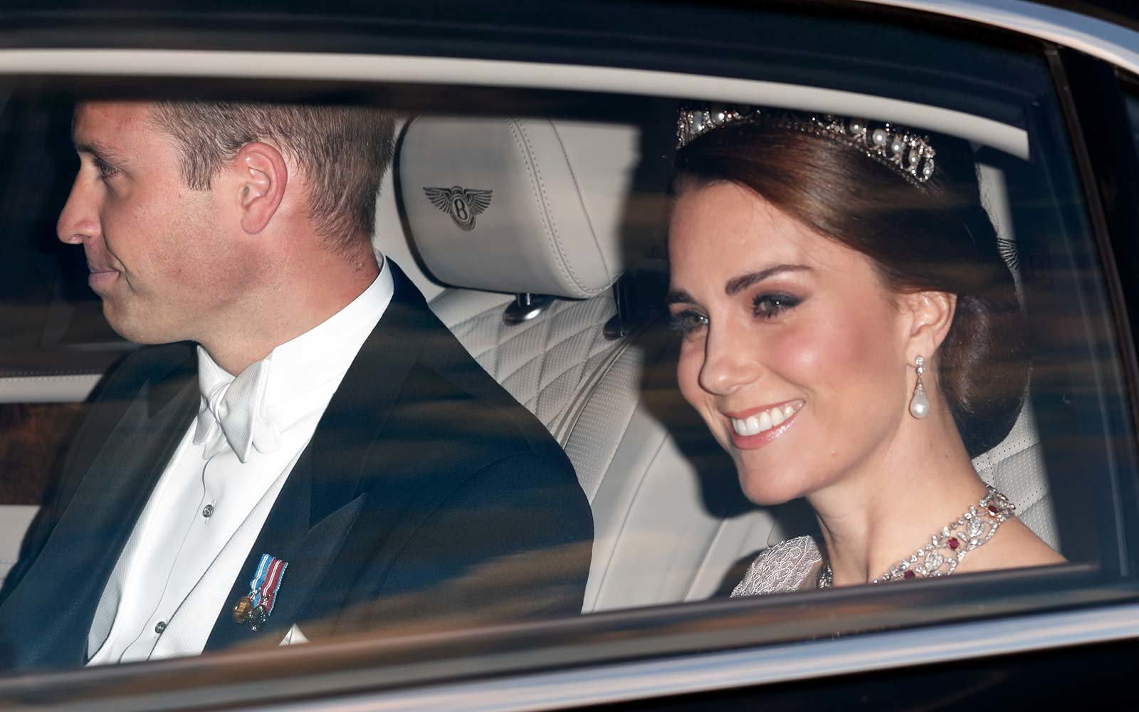 Catherine, Duchess of Cambridge Diana, Princess of Wales wears the Cambridge Lover's Knot tiara (Queen Mary's Tiara)