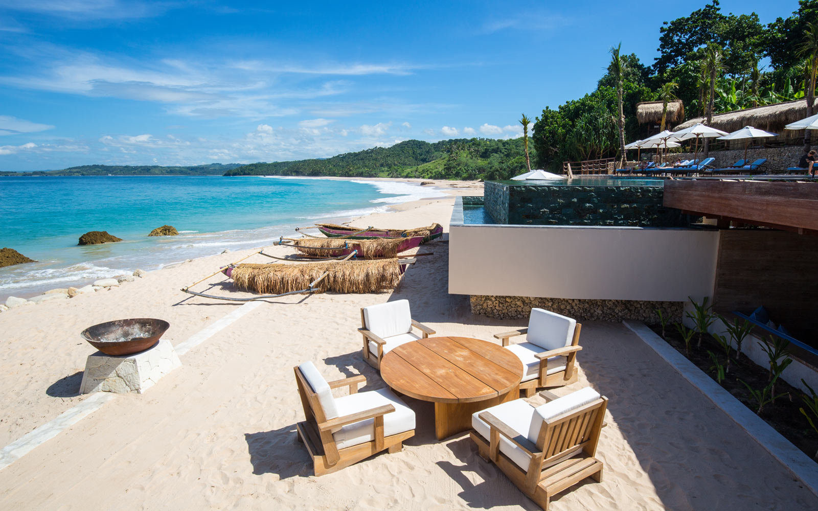 Table and Chairs on Beach, Nihiwatu, Sumba, Indonesia