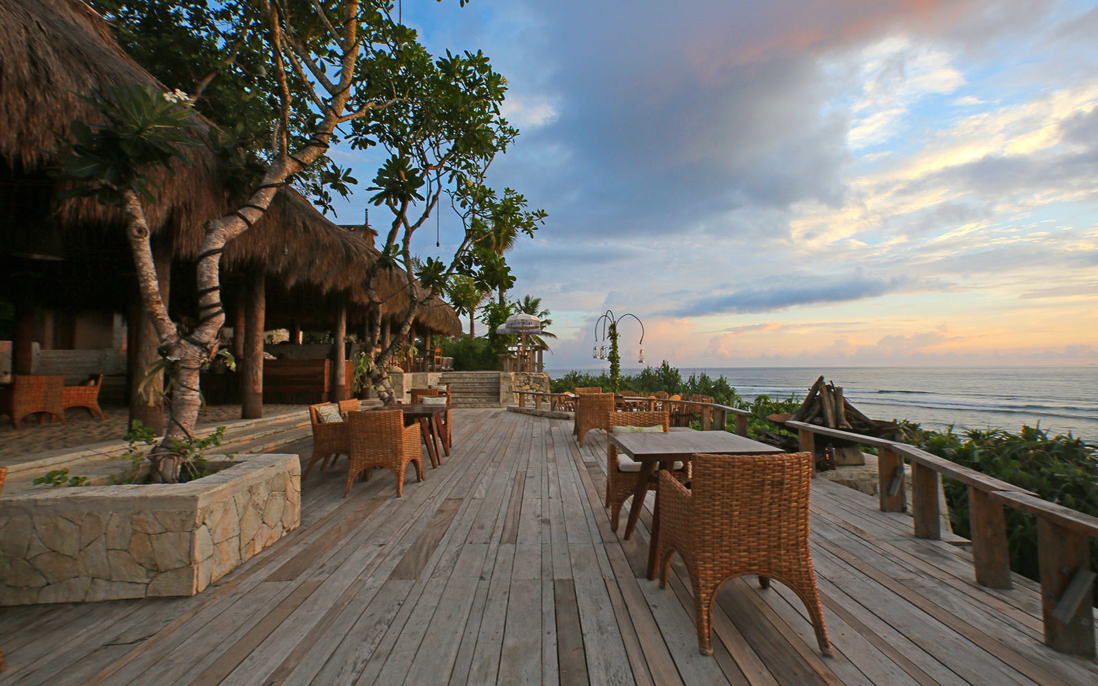 Deck, Sunset, Nihiwatu, Sumba, Indonesia