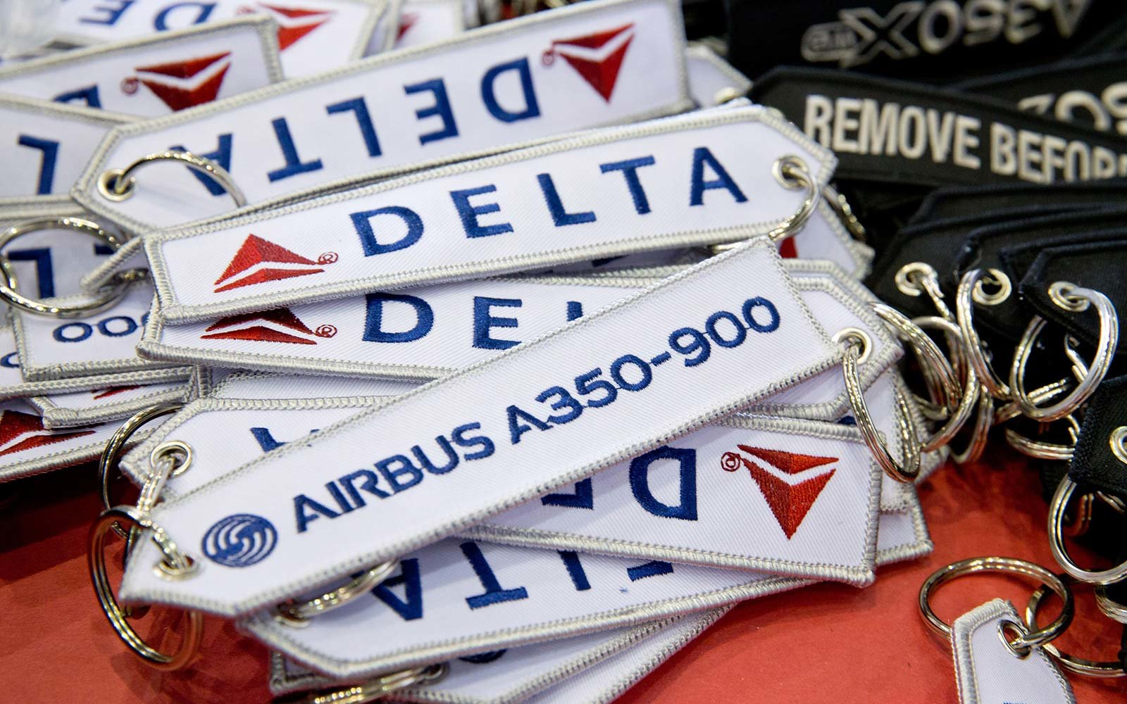 Delta Airlines Airbus A350 luggage flight tags
