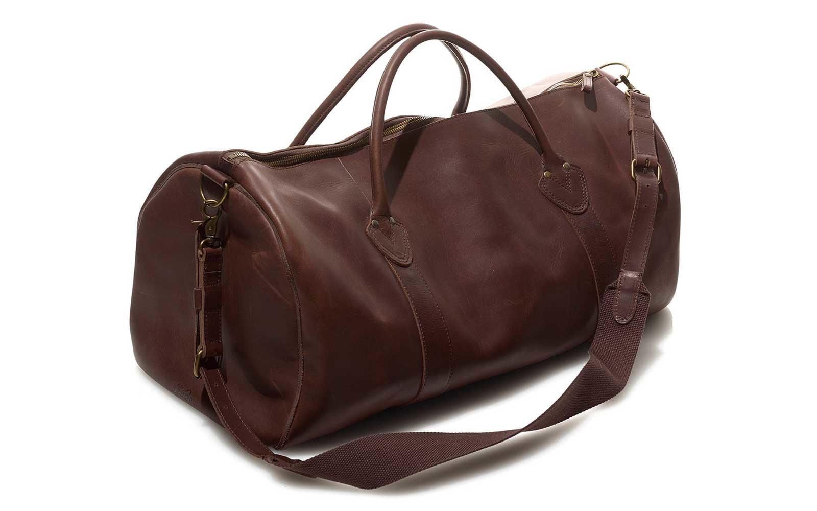 367843eeda L.L.Bean Signature Leather Duffel. LL Bean Duffel Bag for Travel