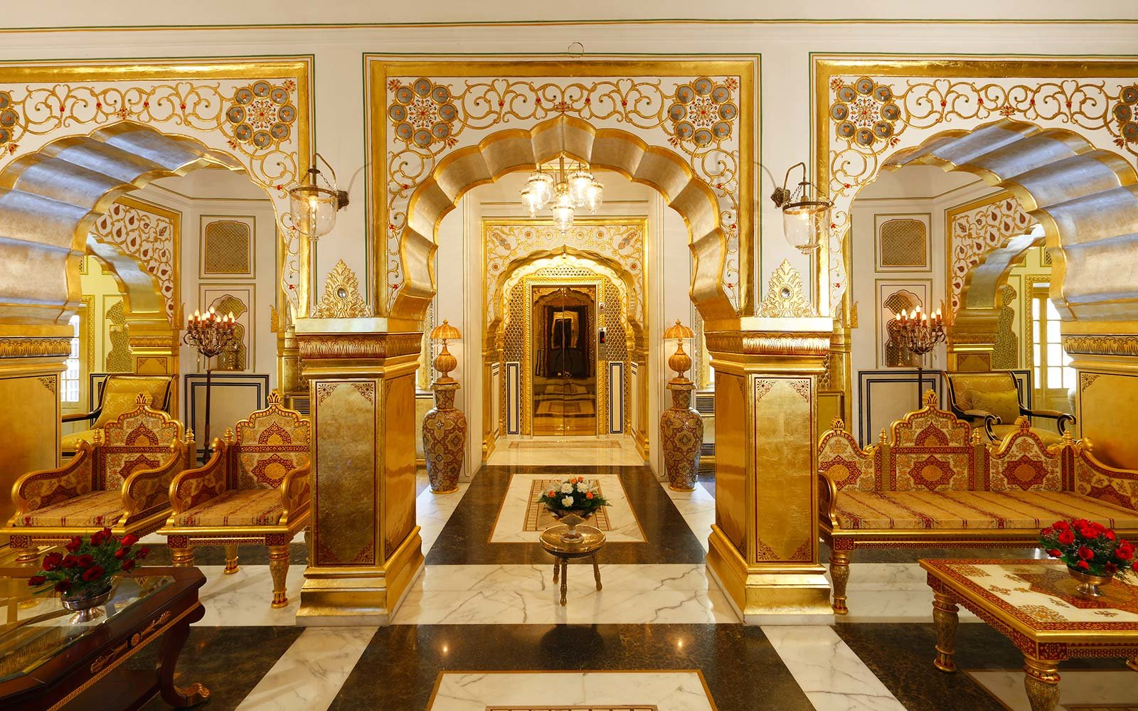 Maharajah Pavilion at Raj Palace, Jaipur, India