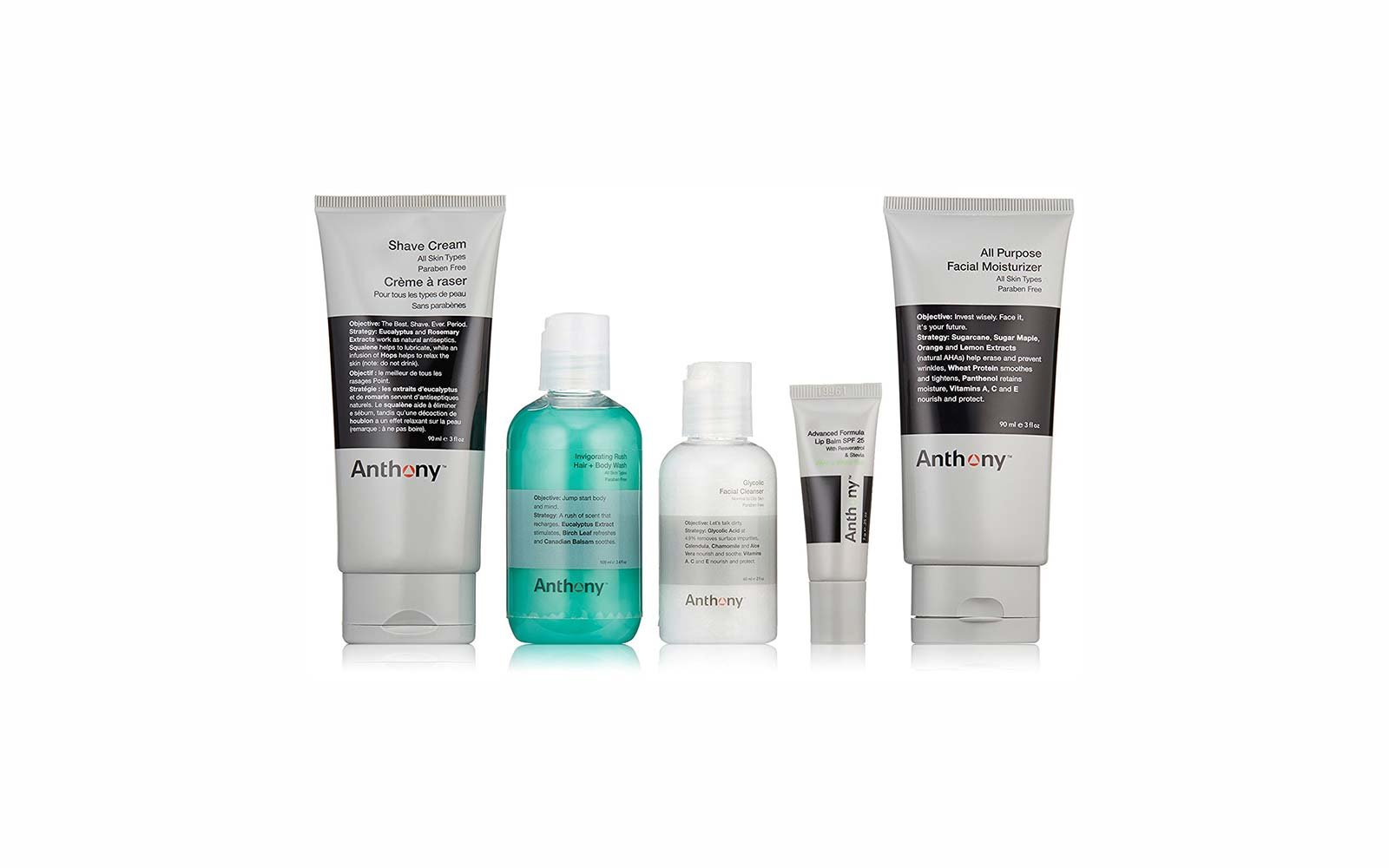 Travel Skincare Set Kits Anthony the Essential