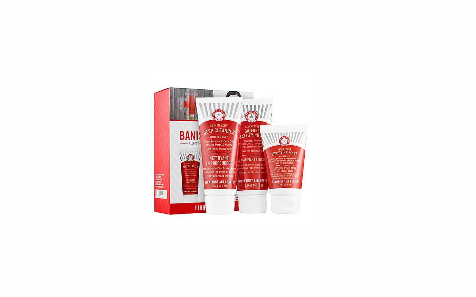Travel Skincare Set Kits First Aid Beauty Banish Oily Skin