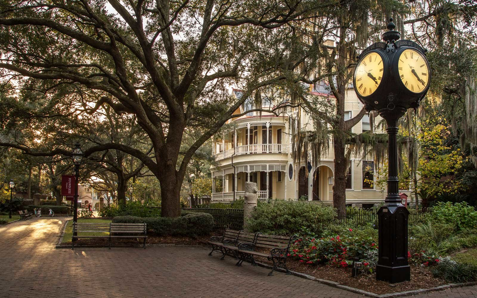 Settle House and Clock at College of Charleston, SC