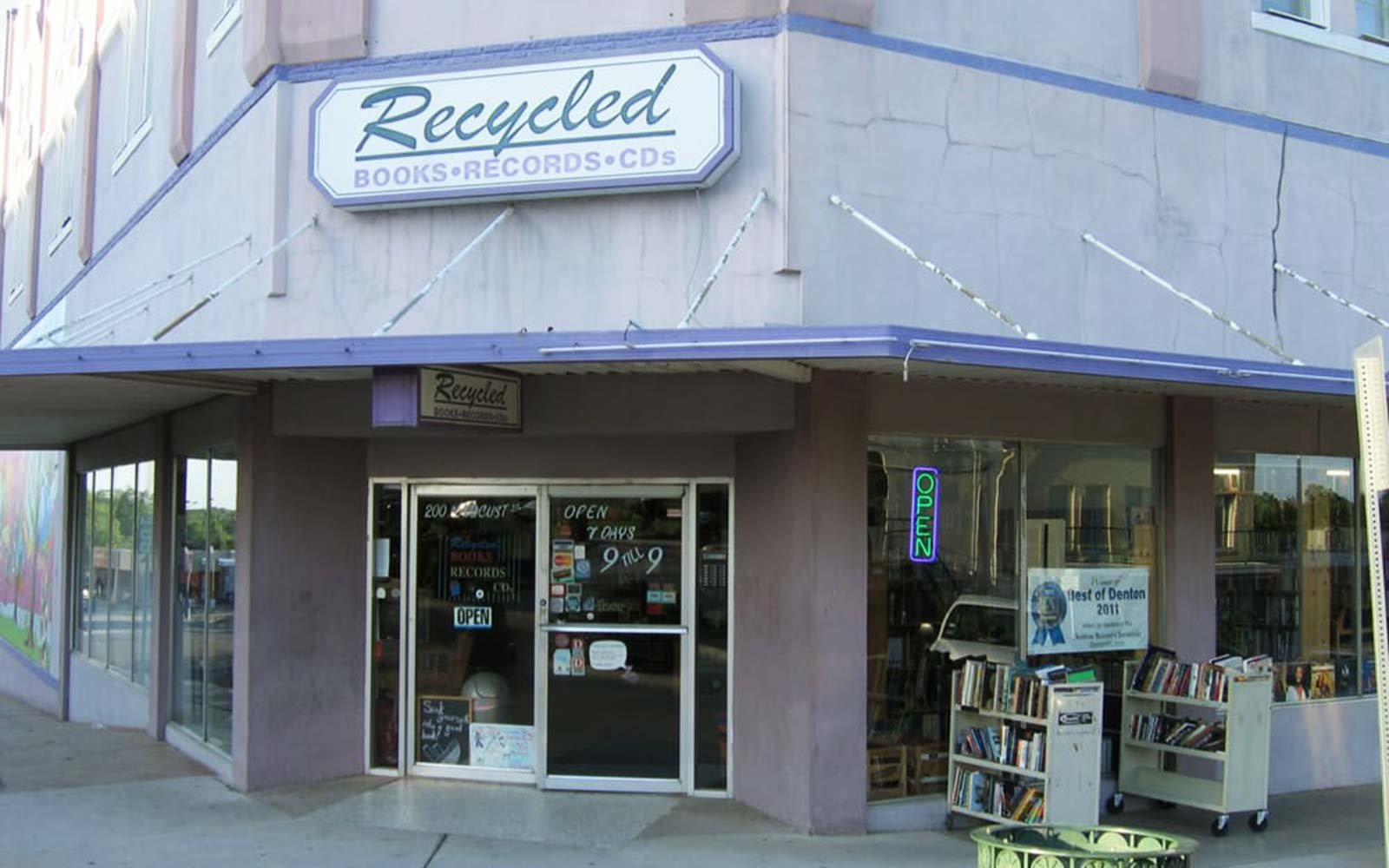 Recycled Books Records CDs Denton Texas