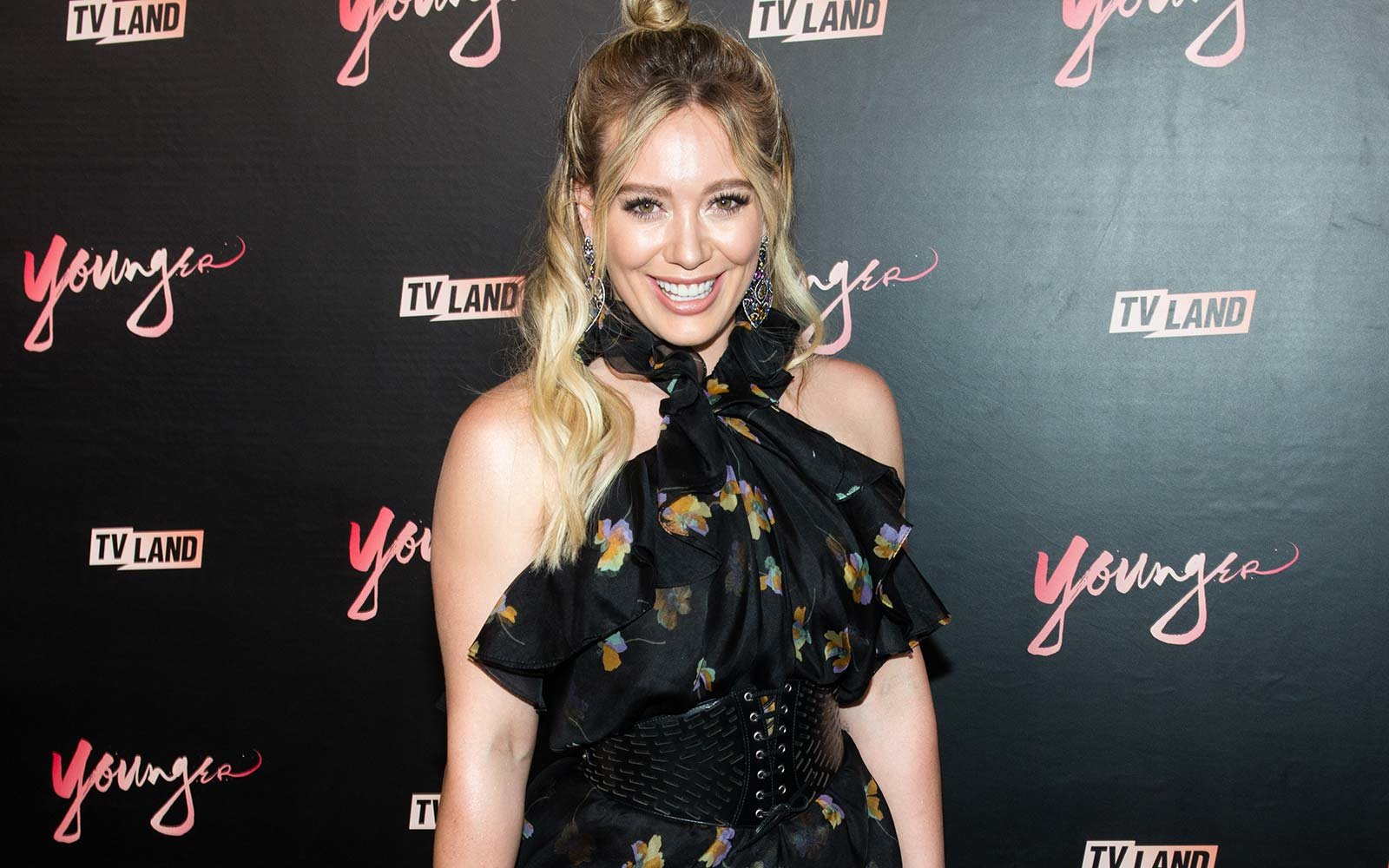 """Actress Hilary Duff attends the """"Younger"""" season four premiere party in New York City."""