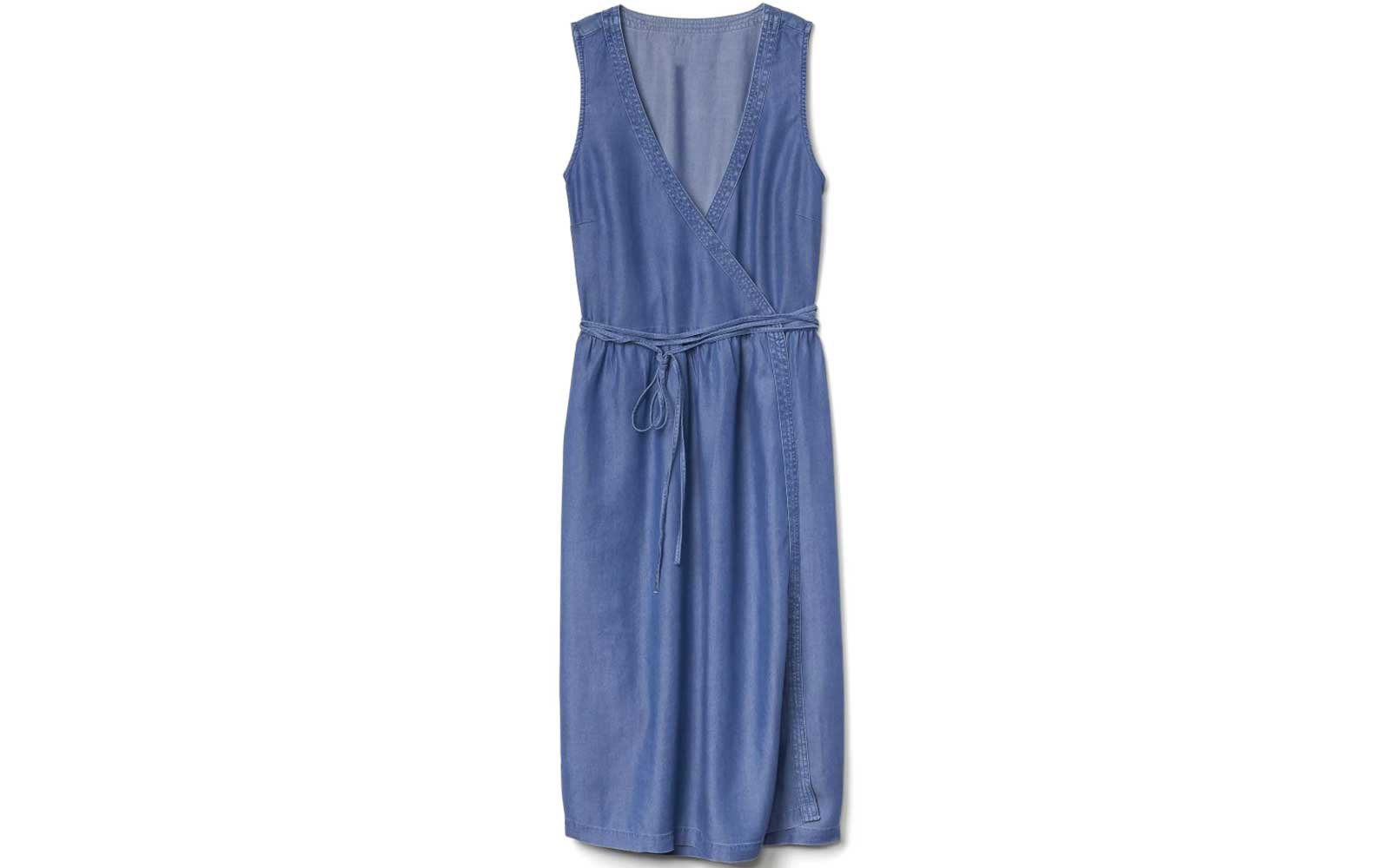 Gap Denim Wrap Dress