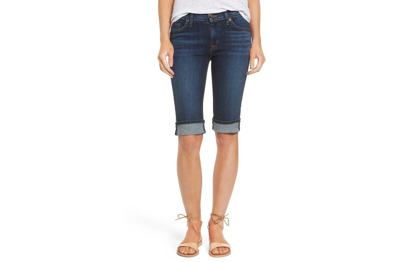 Hudson Jeans Amelia Rolled Knee Shorts