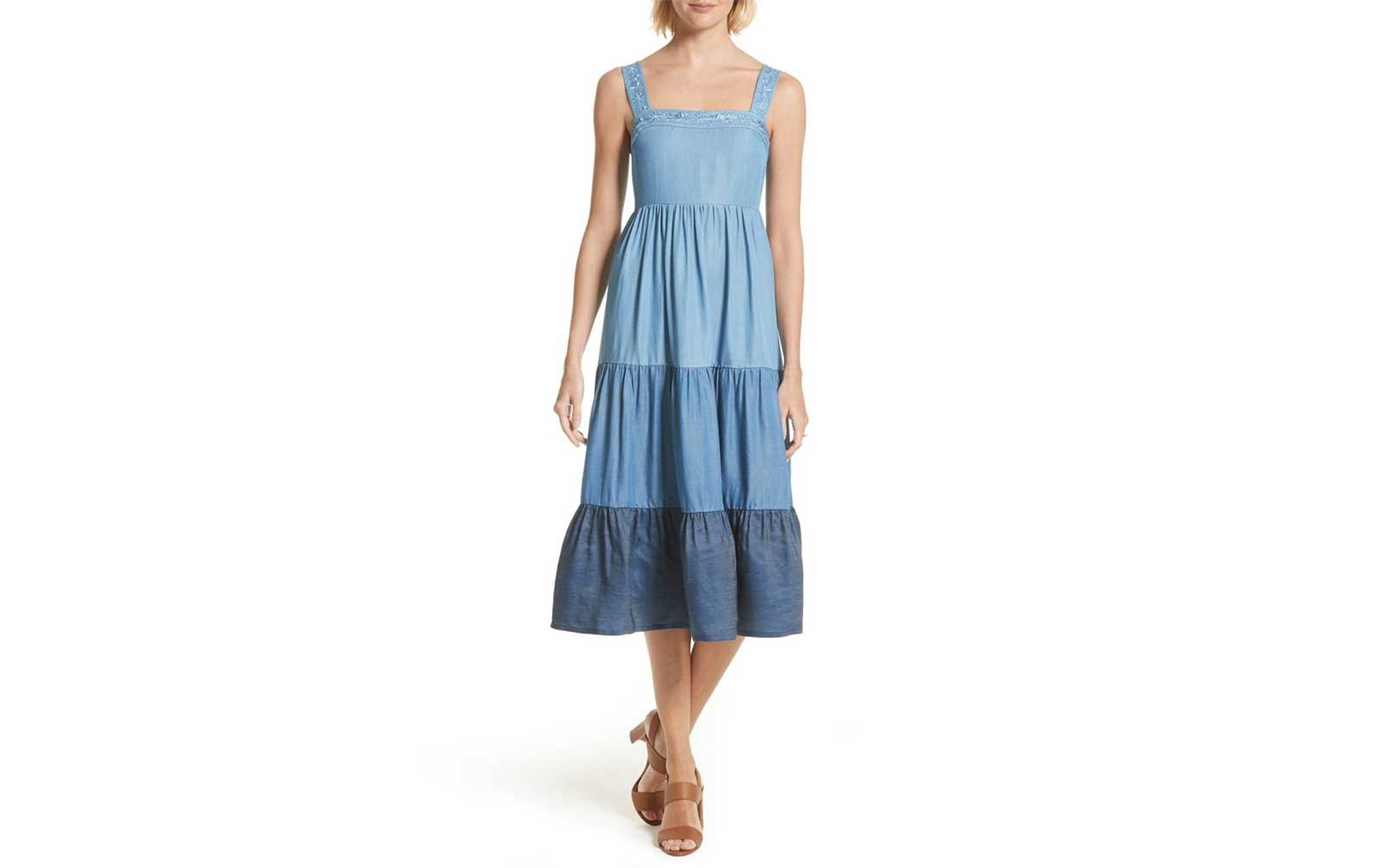 Kate Spade Tiered Denim Dress