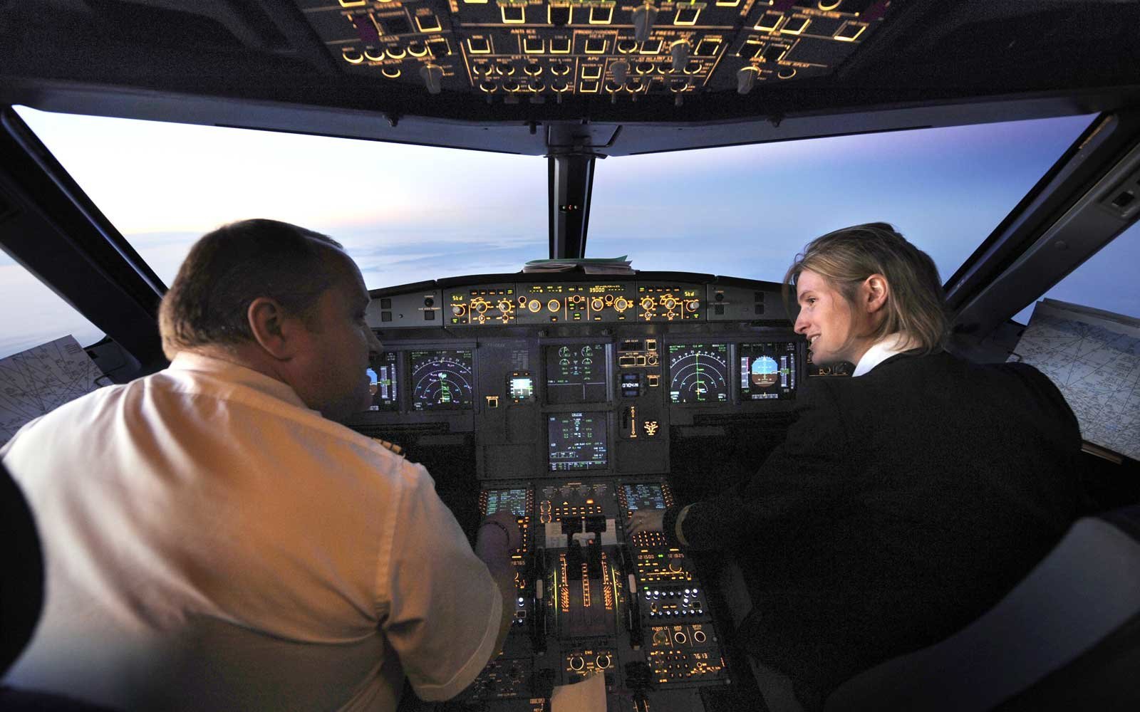 Picture of a pilot and co-pilot