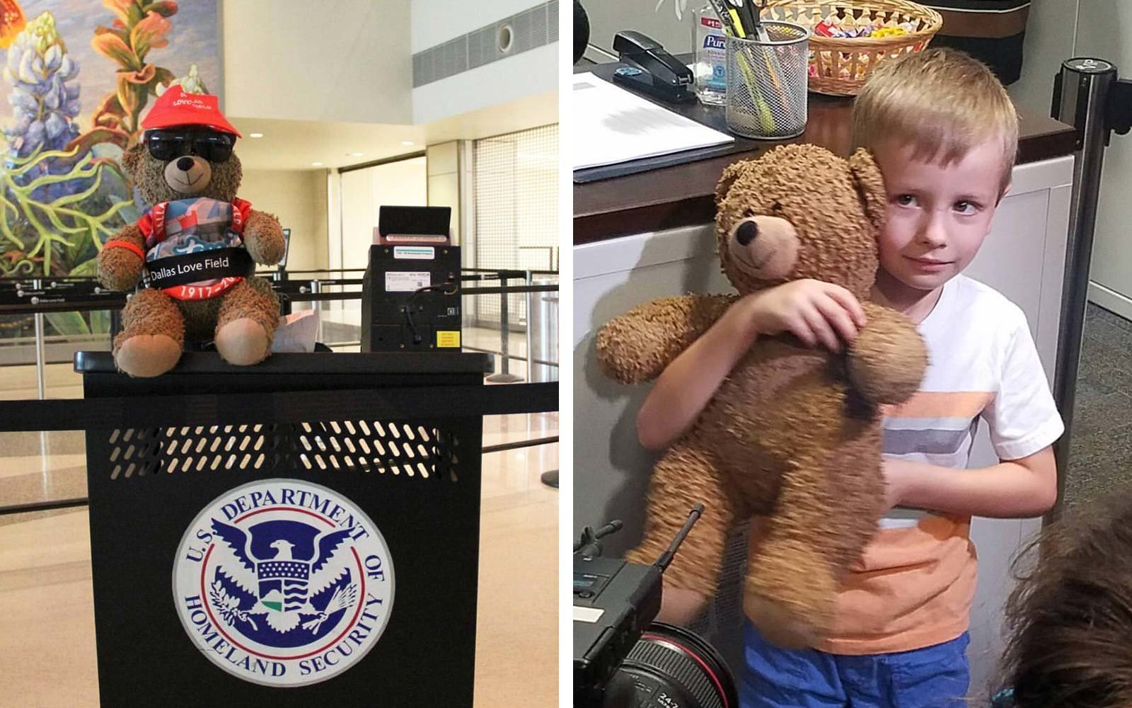 Dallas Love Field Airport Lost and Found Teddy Bear