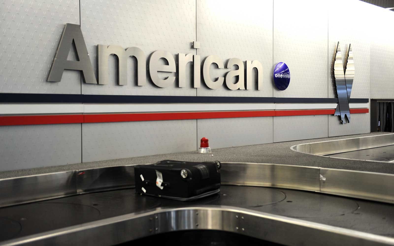 An American Airlines baggage claim is seen at Chicago's O'Hare airport